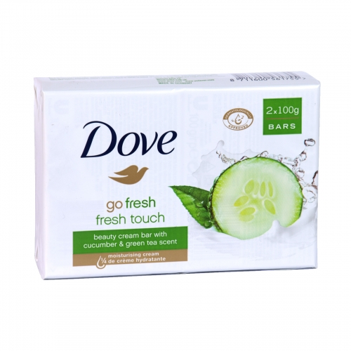 DOVE SOAP 2X100GM GO FRESH TOUCH X 24