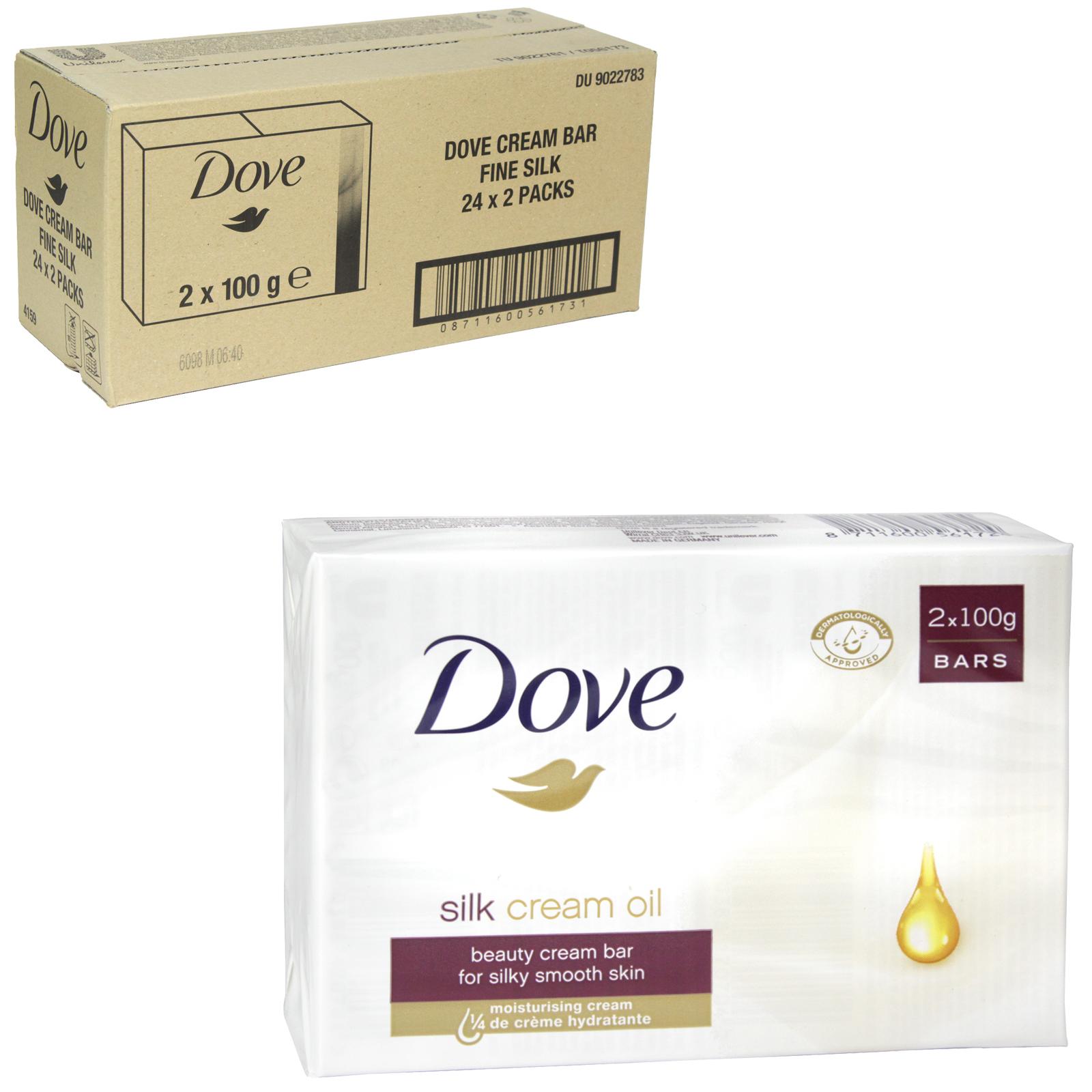DOVE SOAP 2X100GM FINE SILK X 24