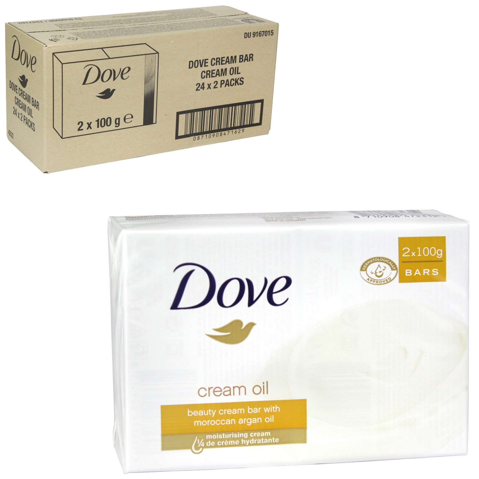 DOVE SOAP 2X100GM CREAM OIL X 24
