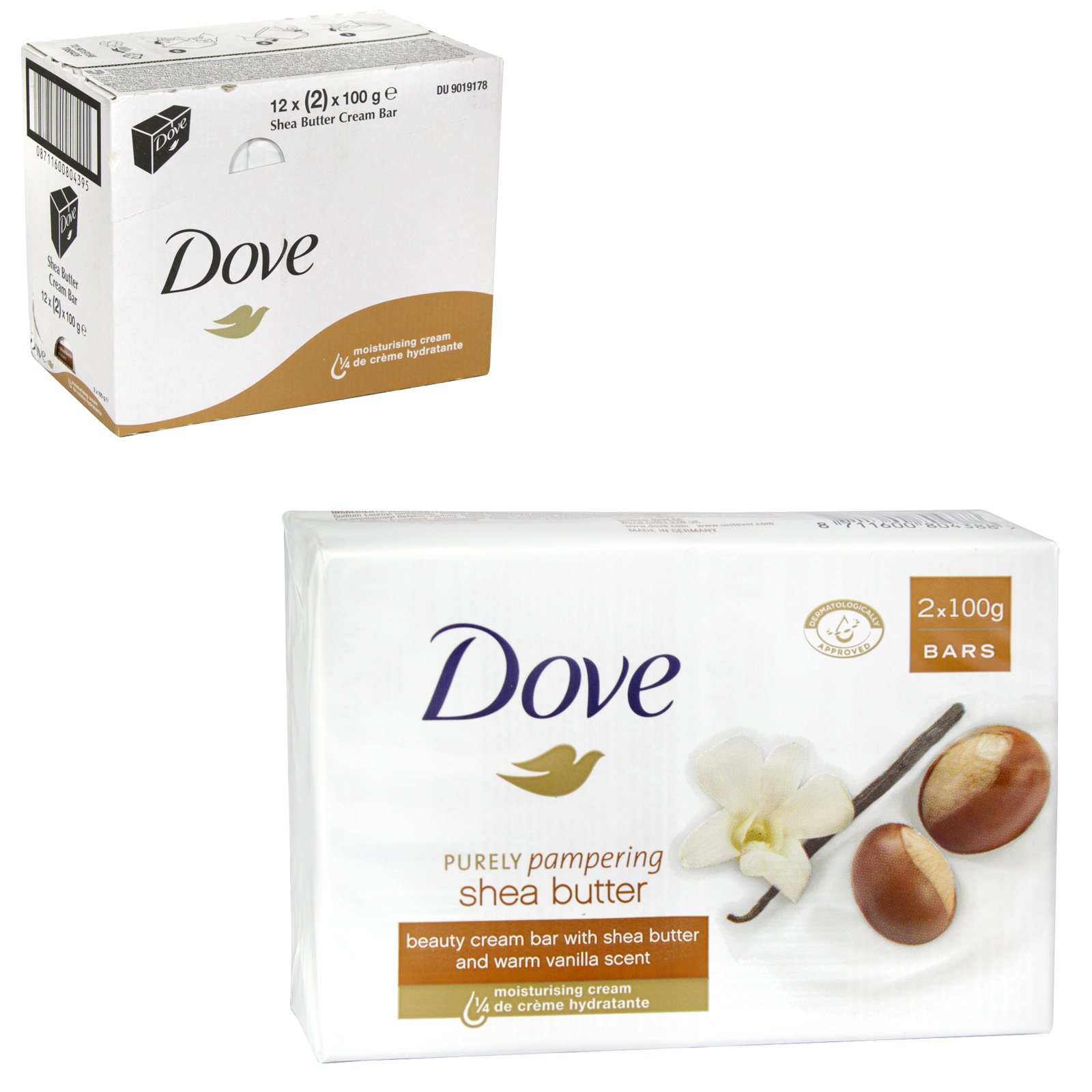 DOVE SOAP 2X100GM SHEA BUTTER X 12