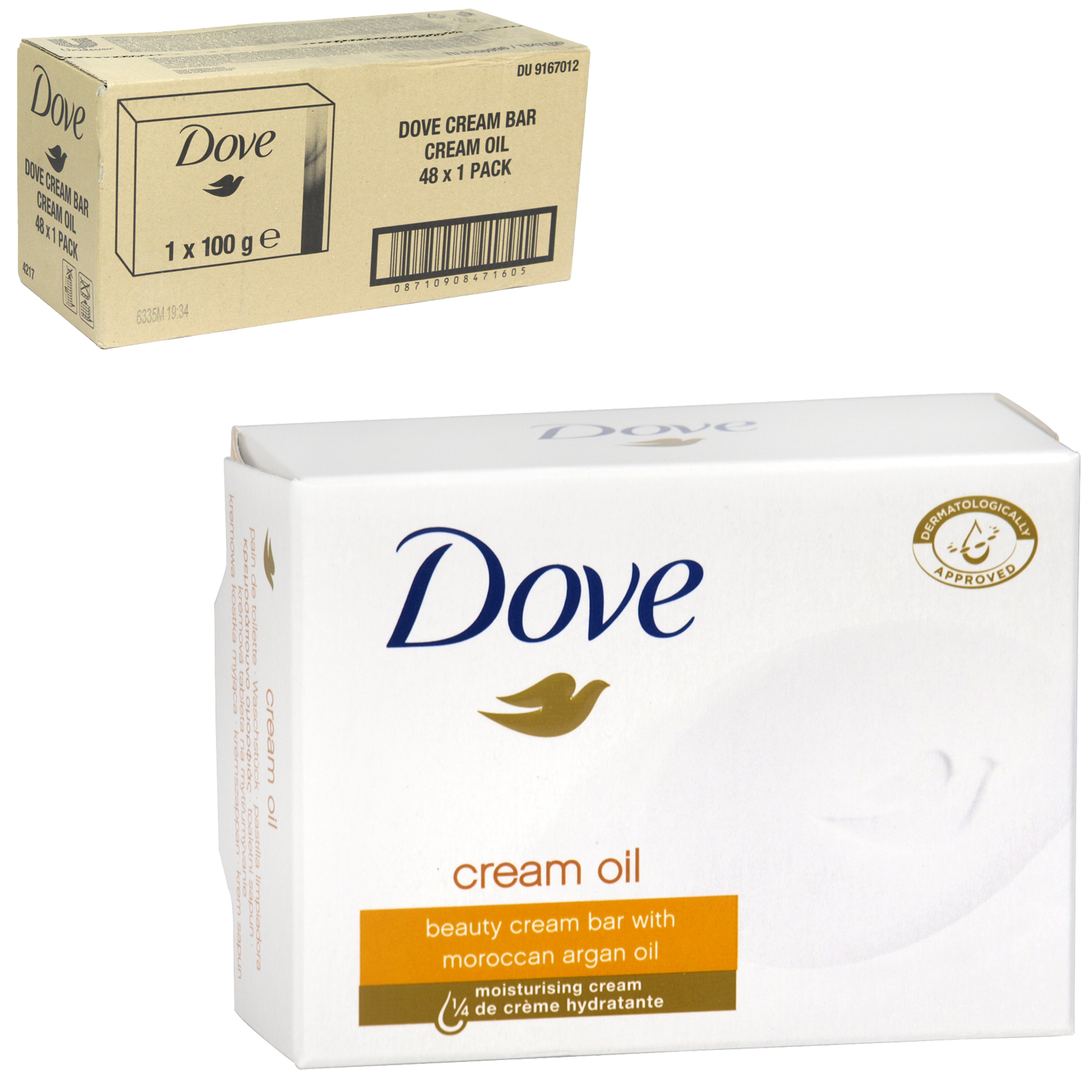 DOVE SOAP 100GM CREAM OIL X 48