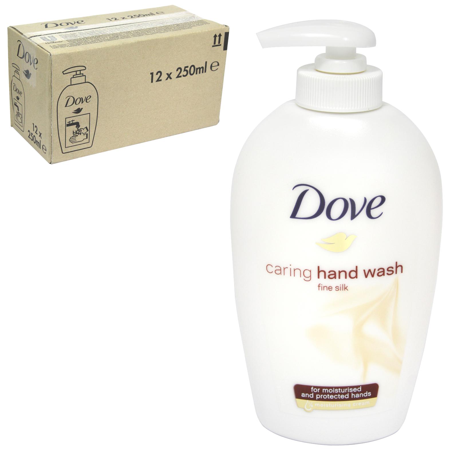 DOVE LIQUID SOAP 250ML FINE SILK X 12