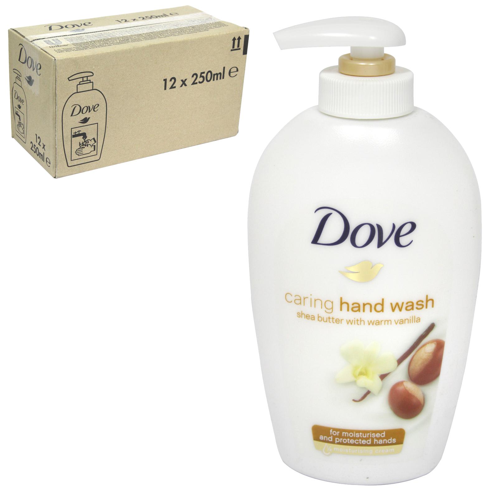 DOVE LIQUID SOAP 250ML SHEA BUTTER+WARM VANILLA  X 12