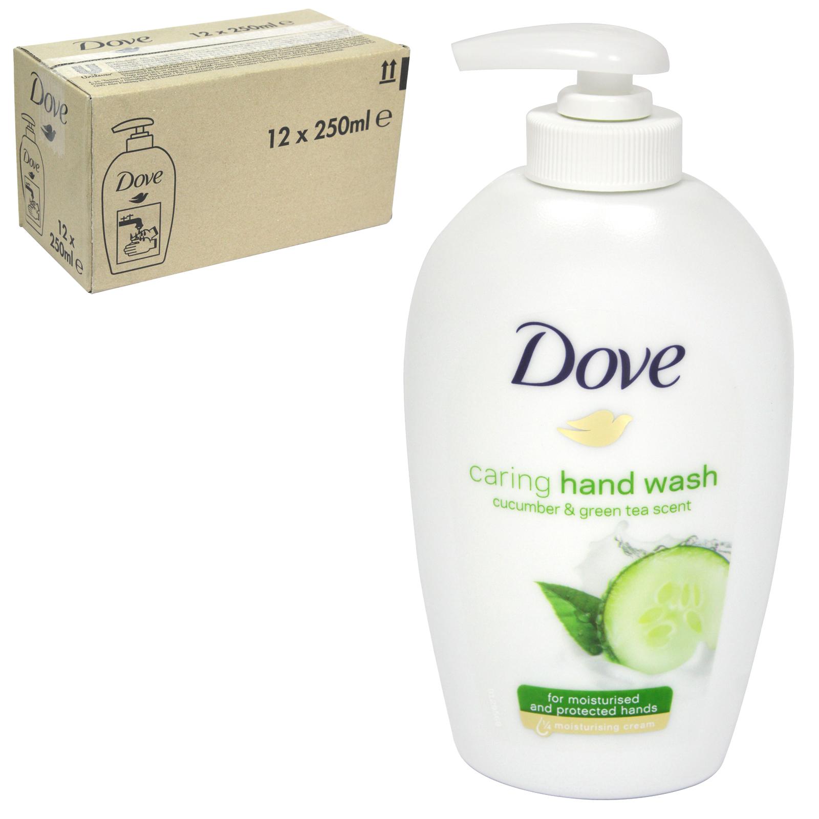 DOVE LIQUID SOAP 250ML CUCUMBER+GREEN TEA X 12