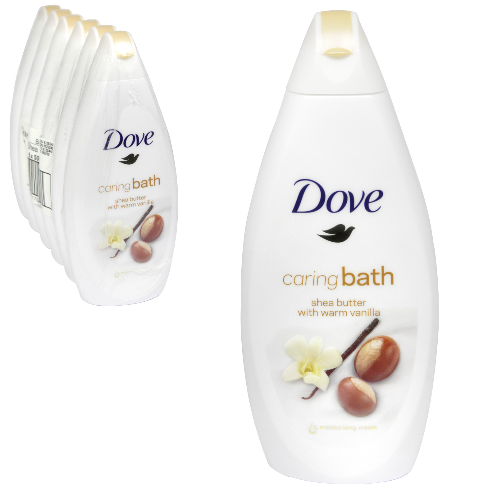 DOVE BATH 500ML PURELY PAMPERING SHEA BUTTER WARM VANILLA X 6