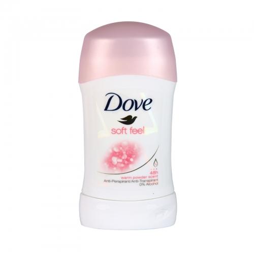 DOVE DEO STICK 40ML SOFT FEEL X 6