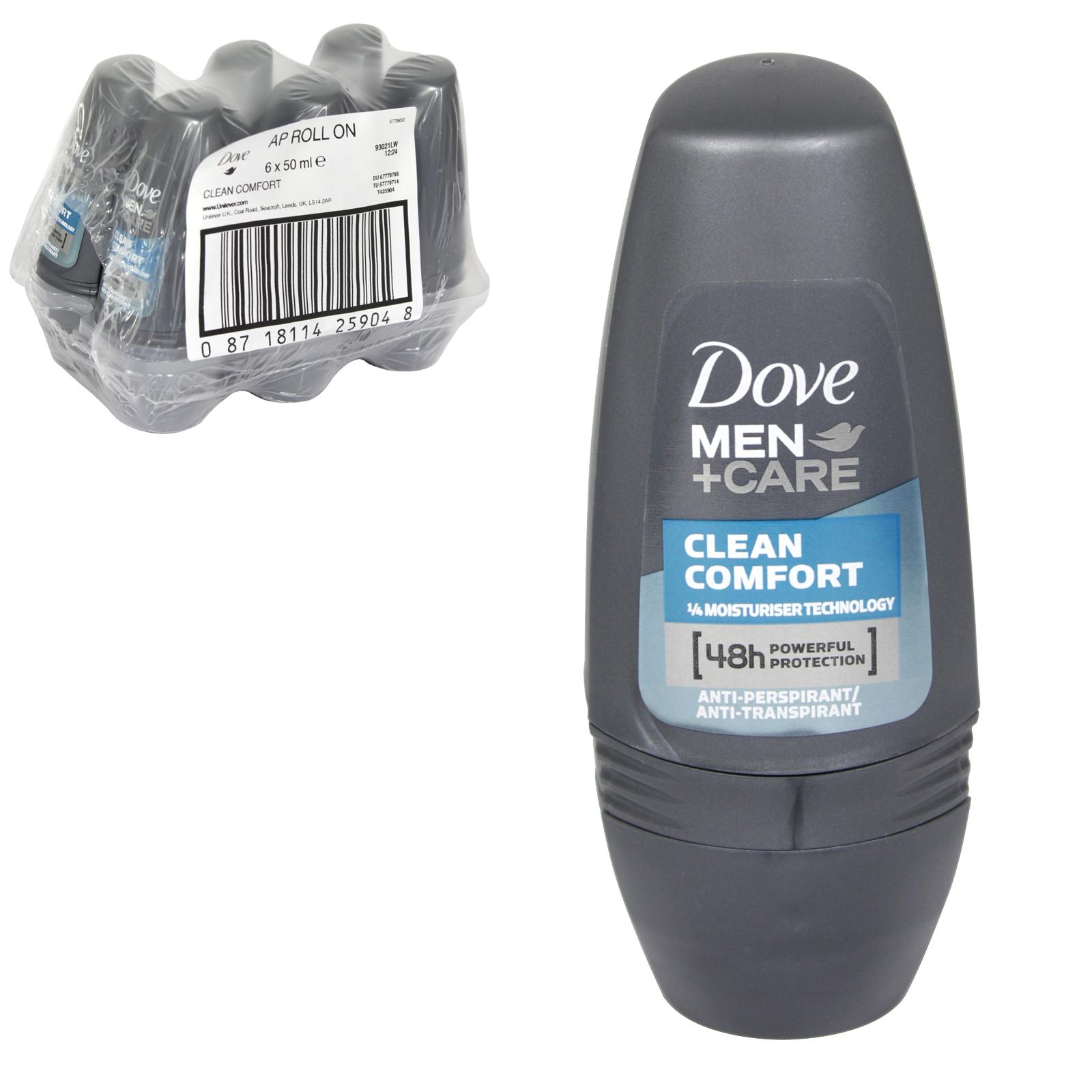 DOVE MEN+CARE R/O 50ML CLEAN COMFORT X 6