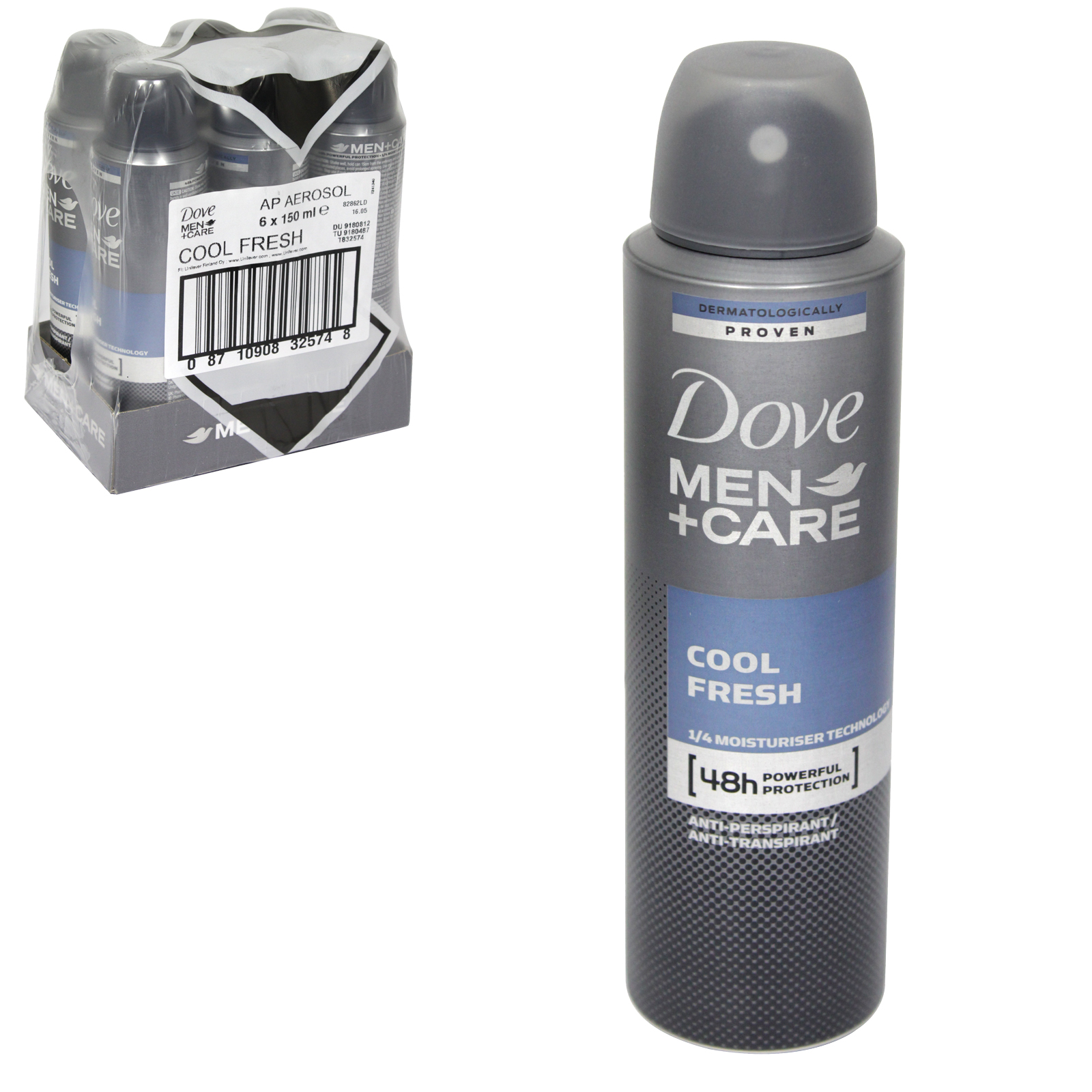 DOVE MEN+CARE APA 150ML COOL FRESH X 6
