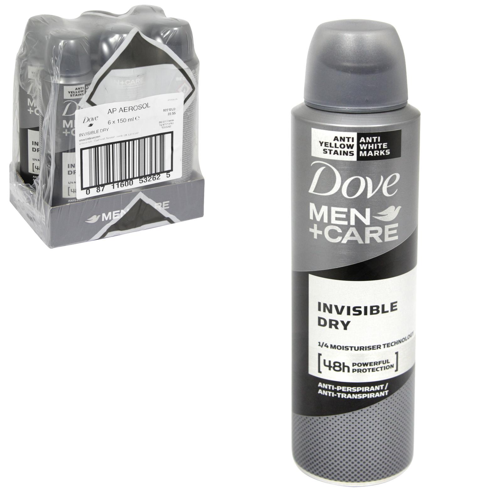 DOVE MEN+CARE APA 150ML INVISIBLE DRY X 6