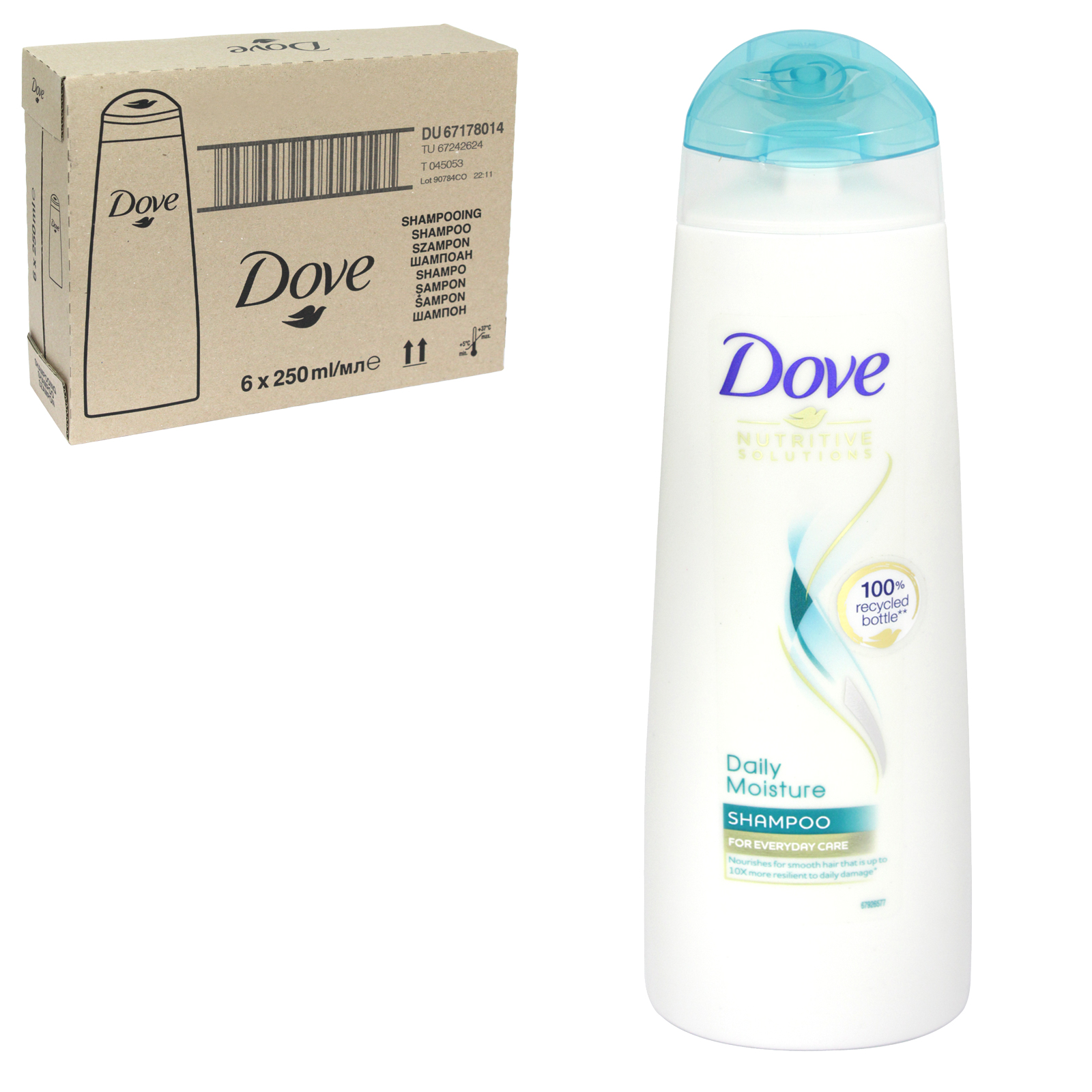 DOVE SHAMPOO 250ML DAILY MOISTURE X 6