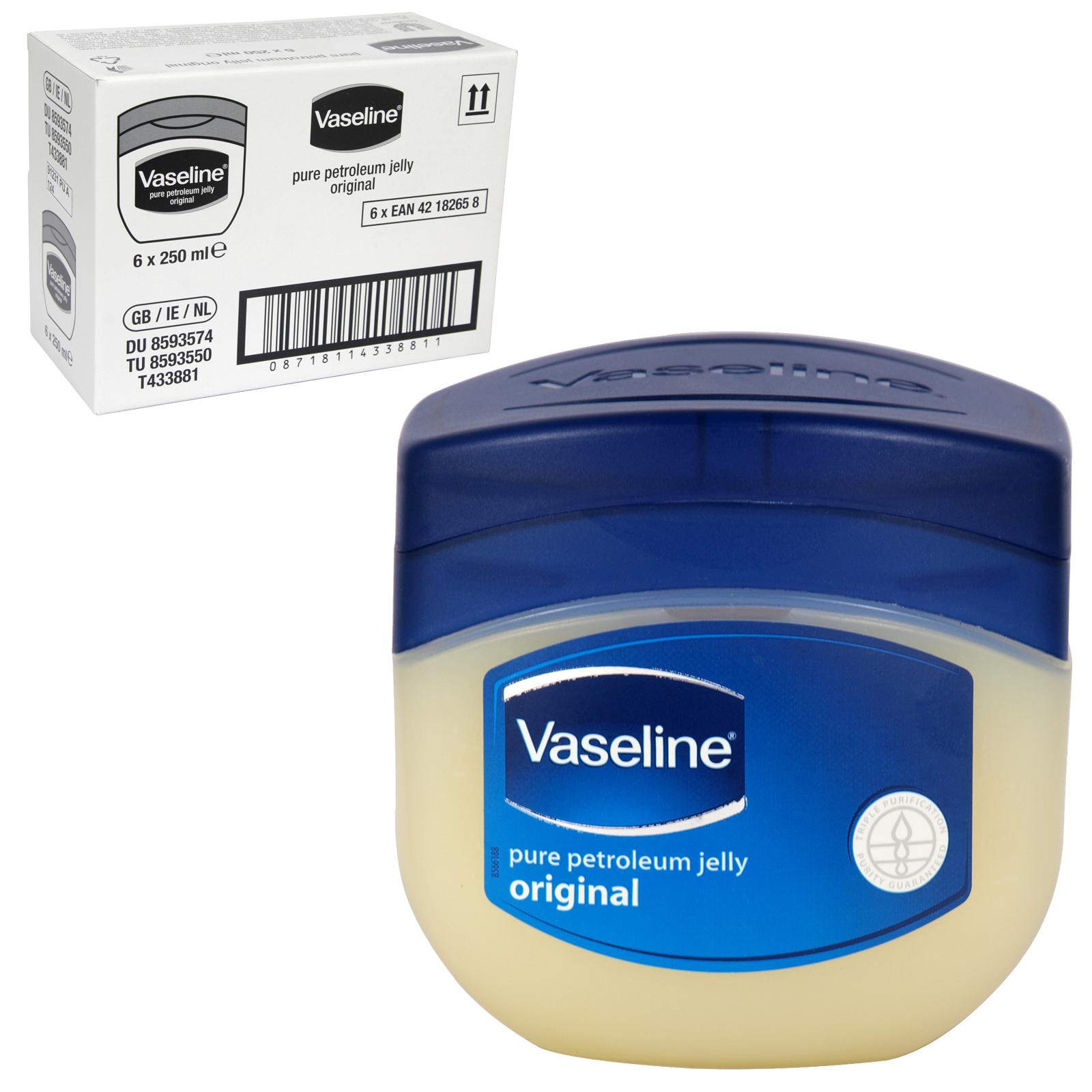 VASELINE PURE PET JELLY 250ML [UK] X6