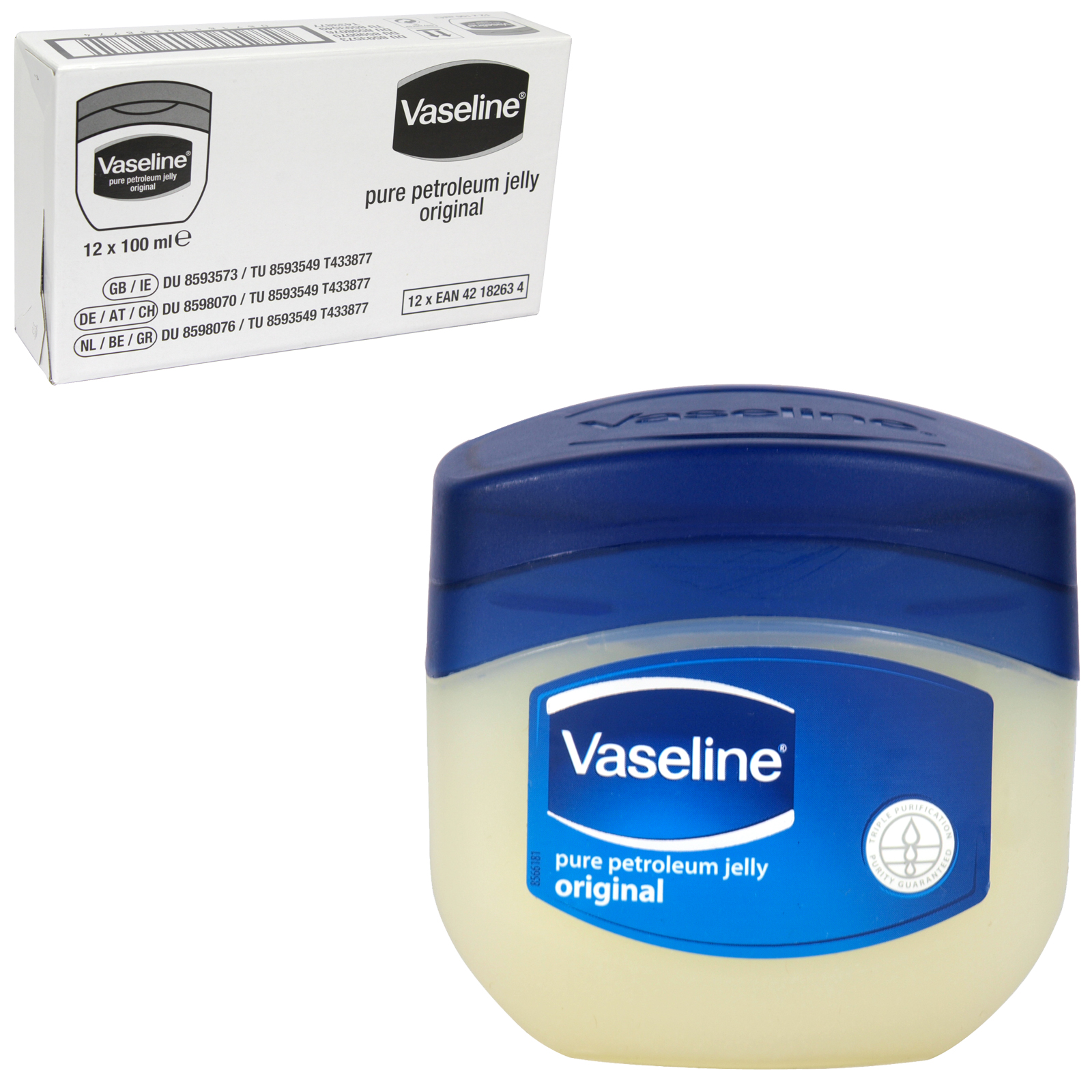 VASELINE PURE PET JELLY 100ML [UK] X12