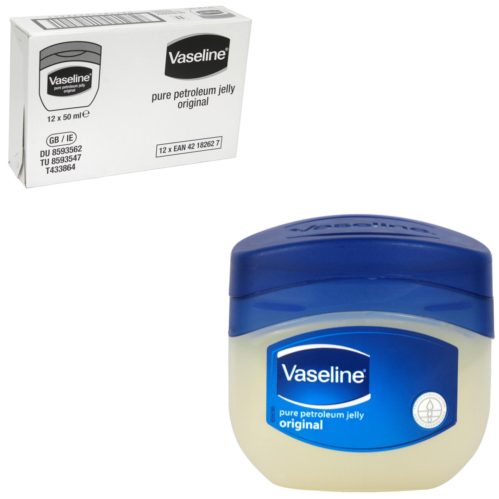 VASELINE PURE PET JELLY 50ML [UK] X12