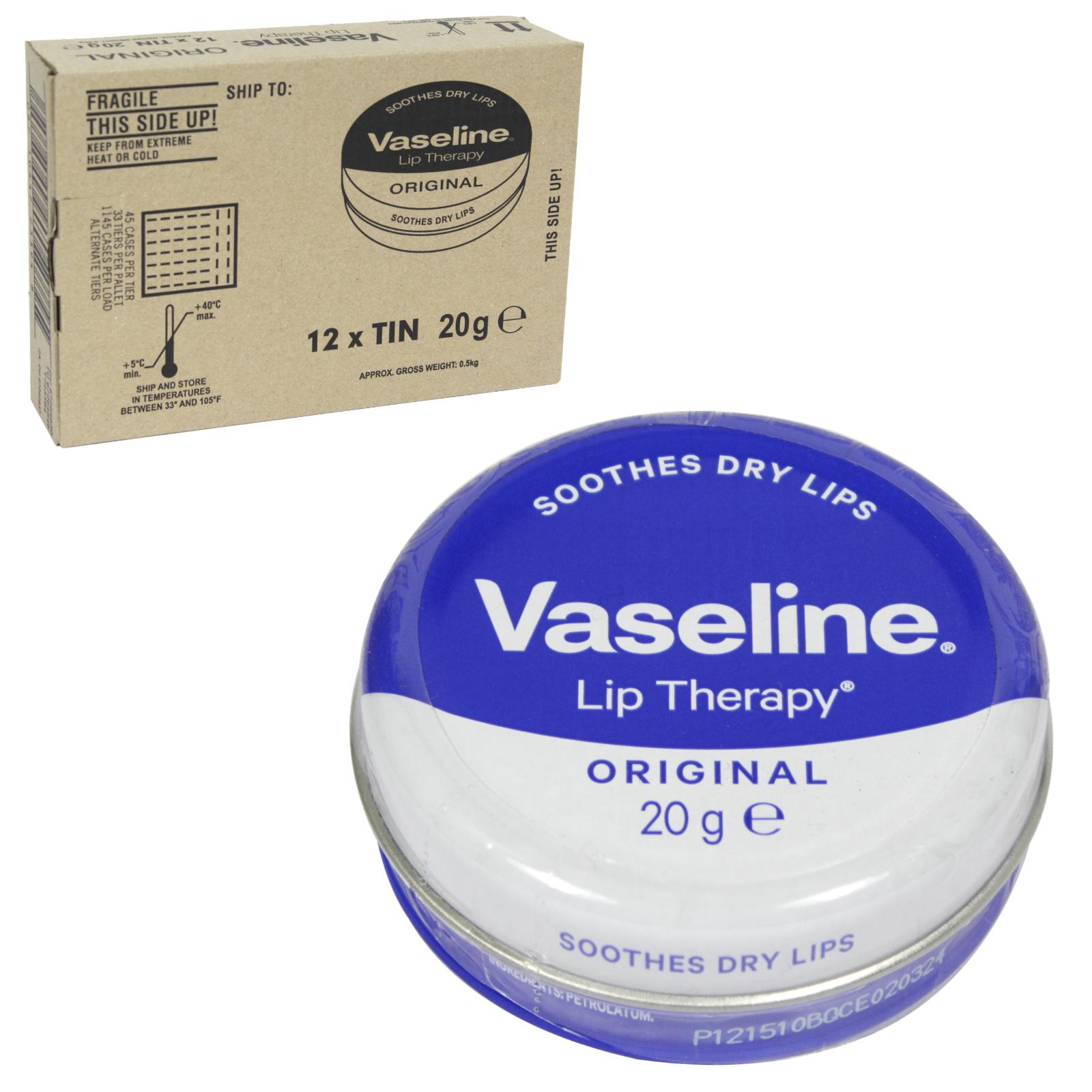 VASELINE LIP THERAPY 20GM ORIGINAL X12