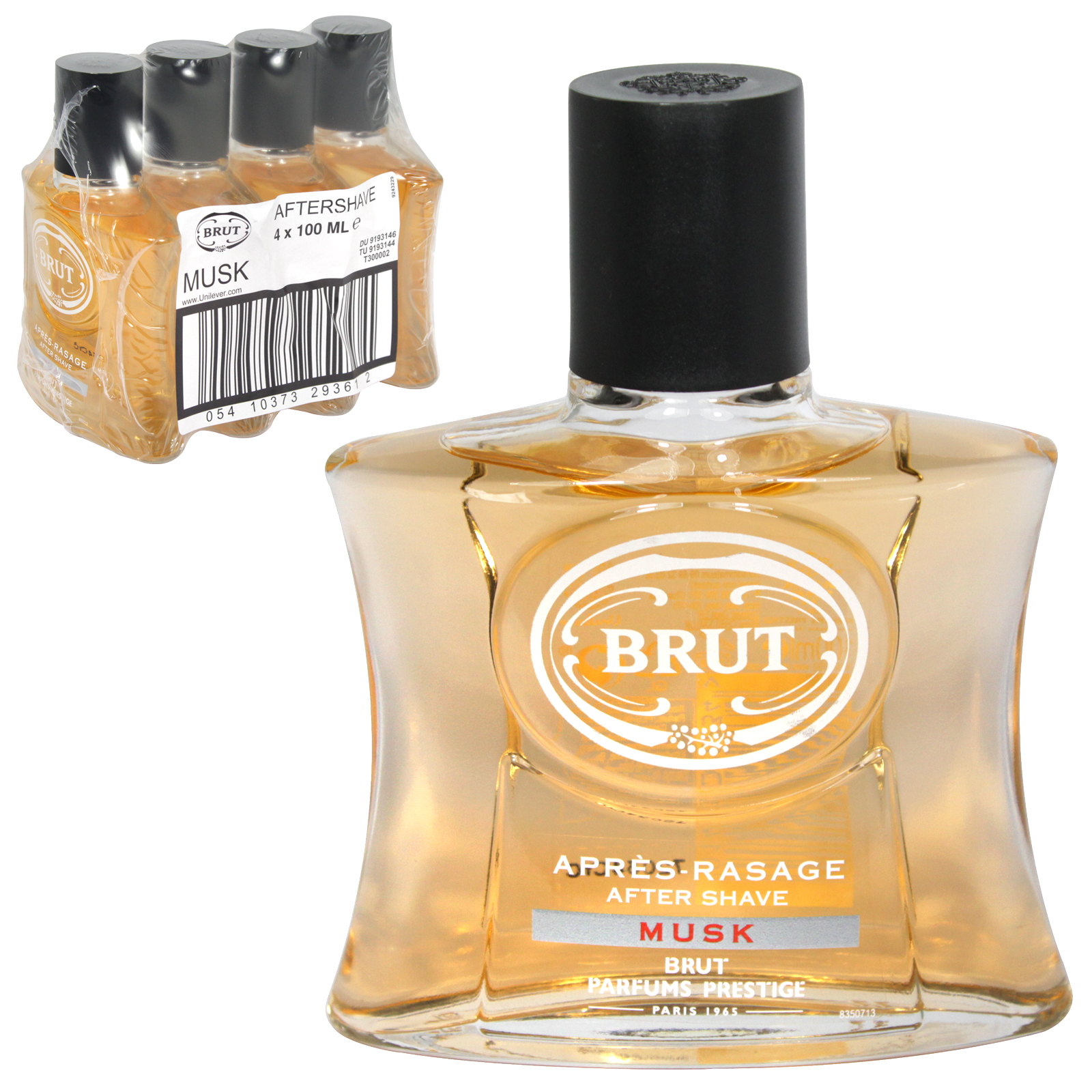 BRUT A/SHAVE 100ML UNBOXED MUSK X4
