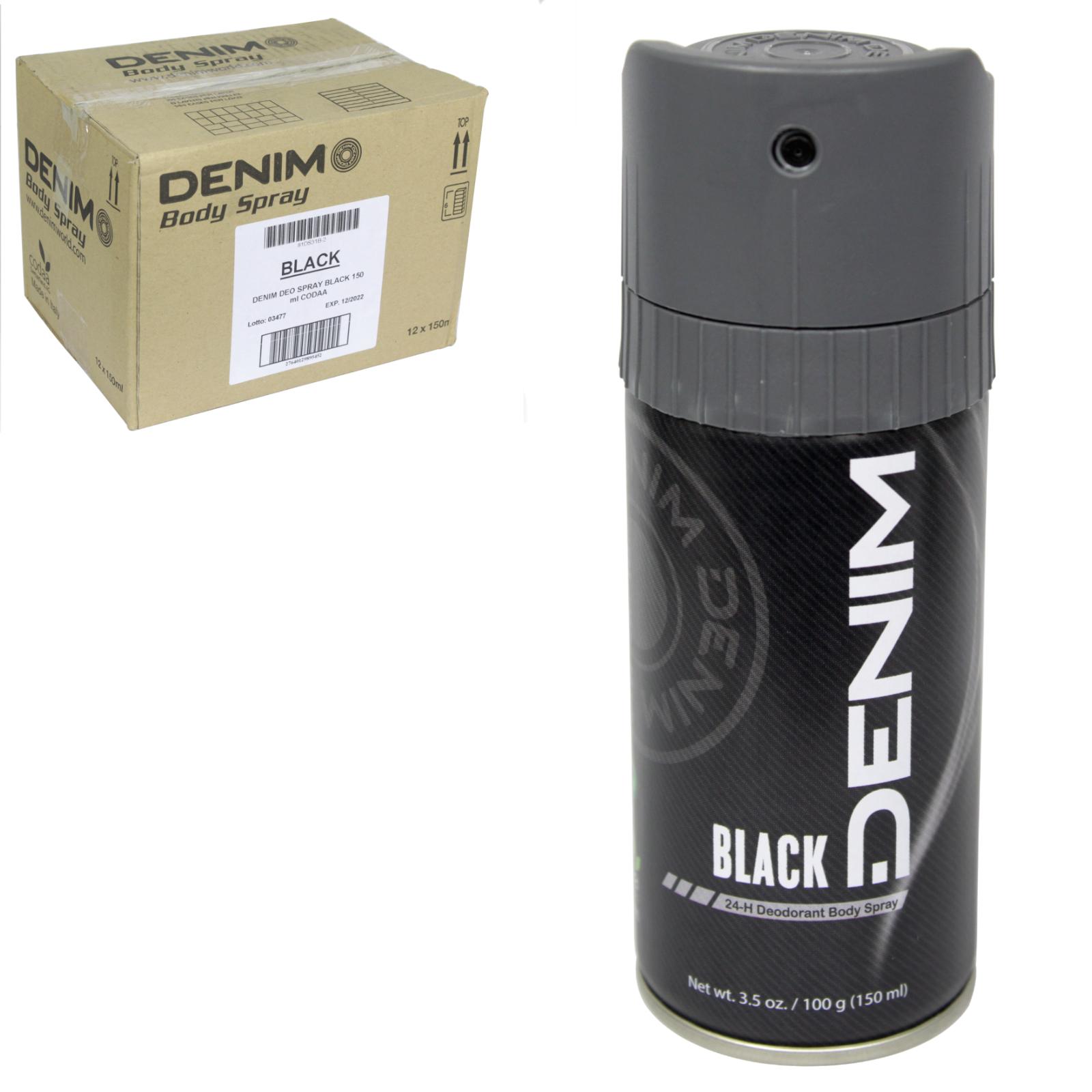 DENIM BODYSPRAY 150ML BLACK X12