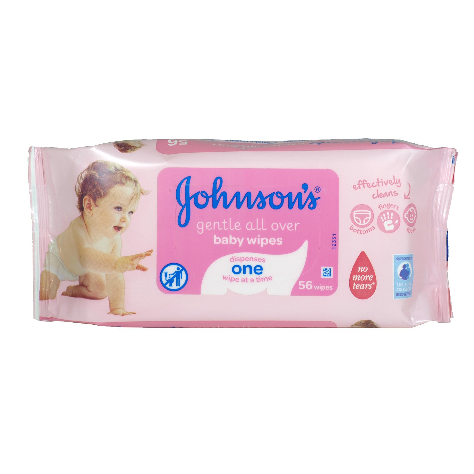JOHNSONS BABY 56 GENTLE ALL OVER BABY WIPES X6