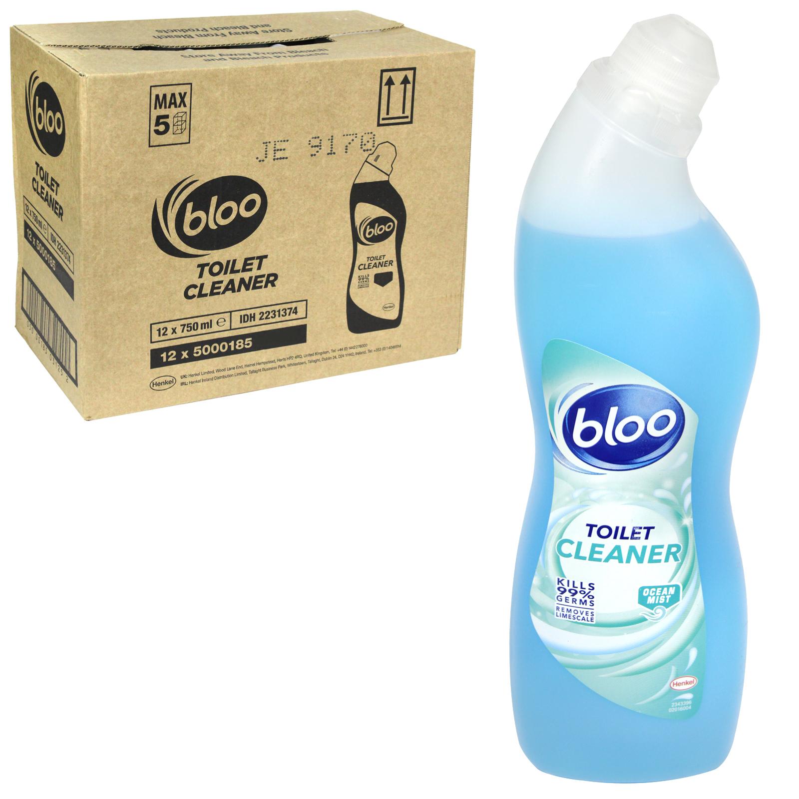 BLOO TOILET CLEANER 750ML OCEAN MIST X12