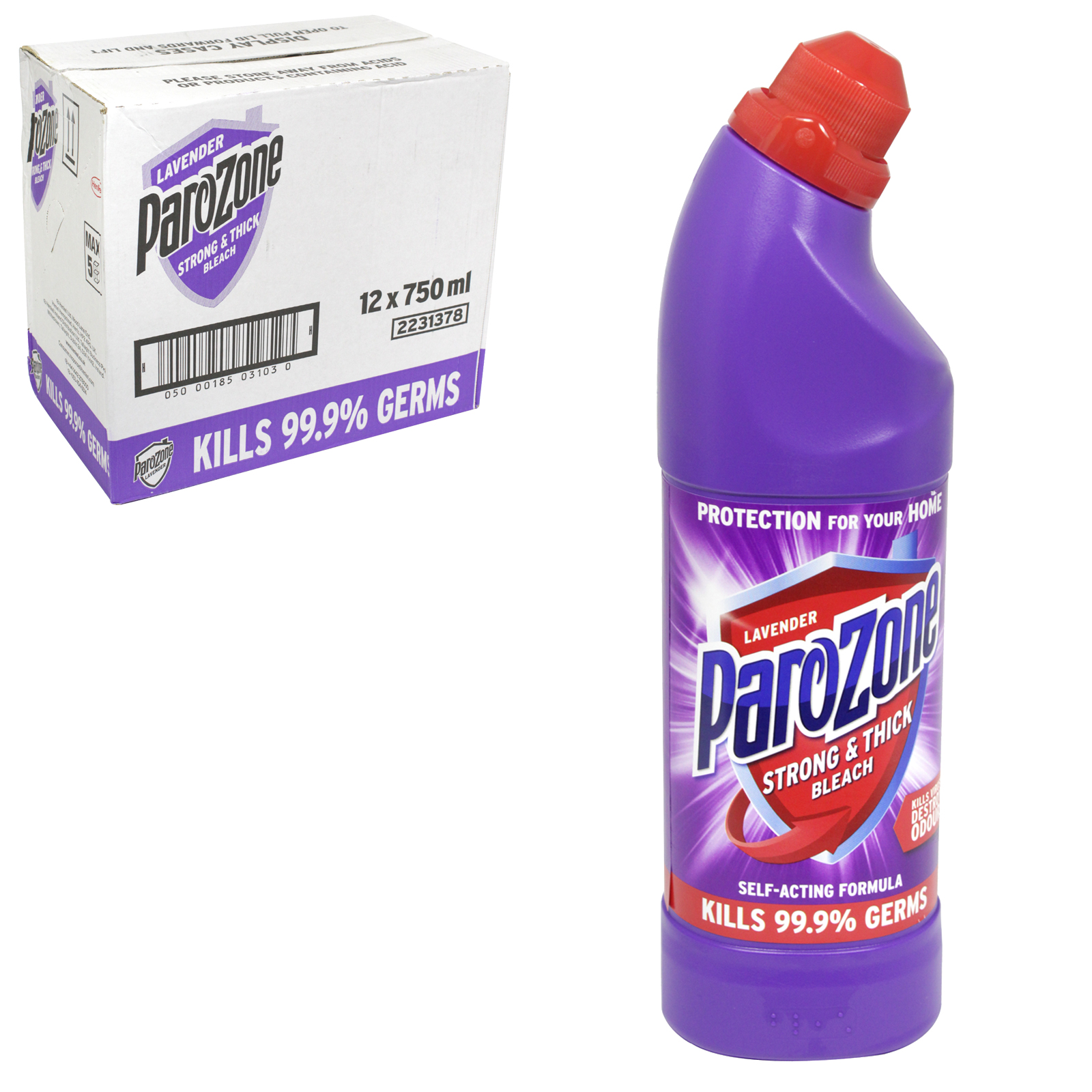 PAROZONE THICK BLEACH 750ML LAVENDER X12
