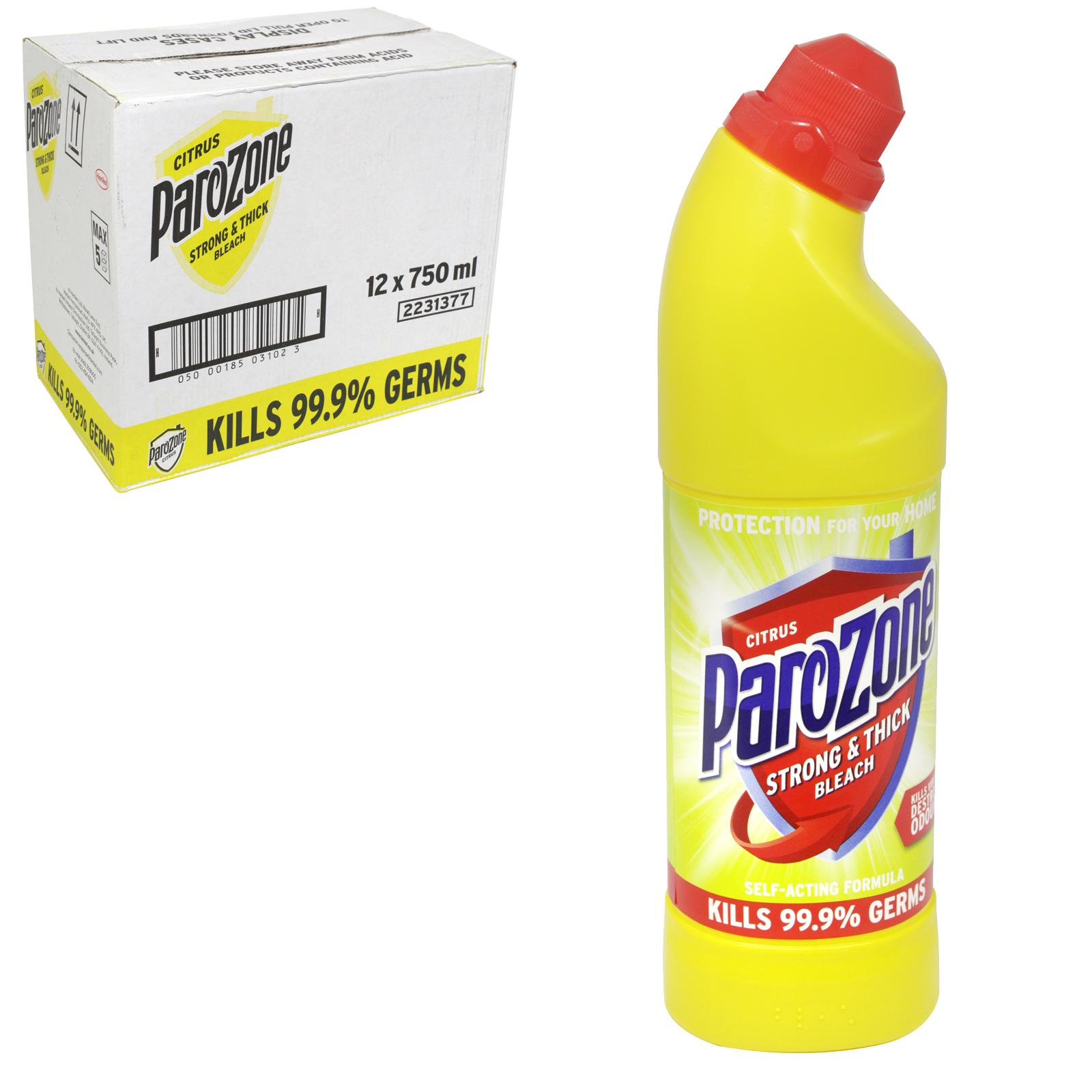 PAROZONE THICK BLEACH 750ML CITRUS X12