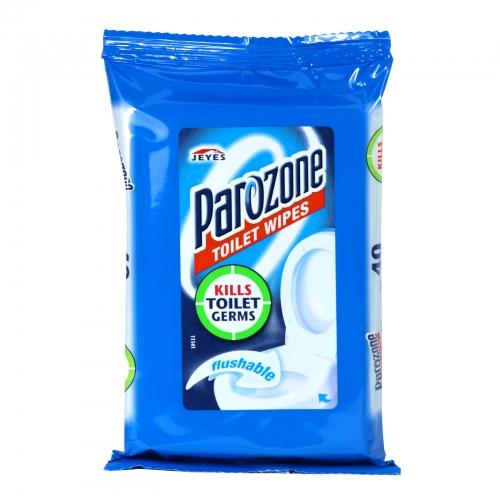 PAROZONE TOILET WIPES 40S ORIGINAL X8