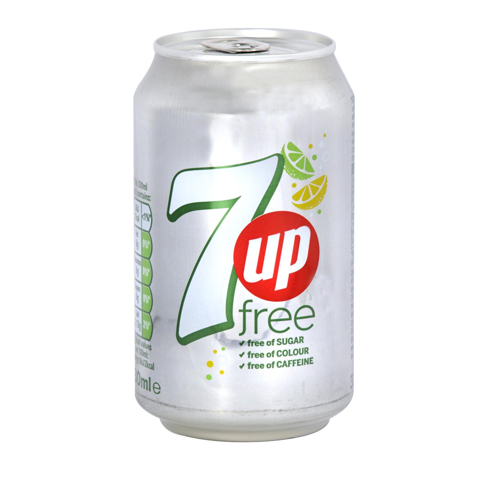 7UP 330ML CAN SUGAR FREE X24