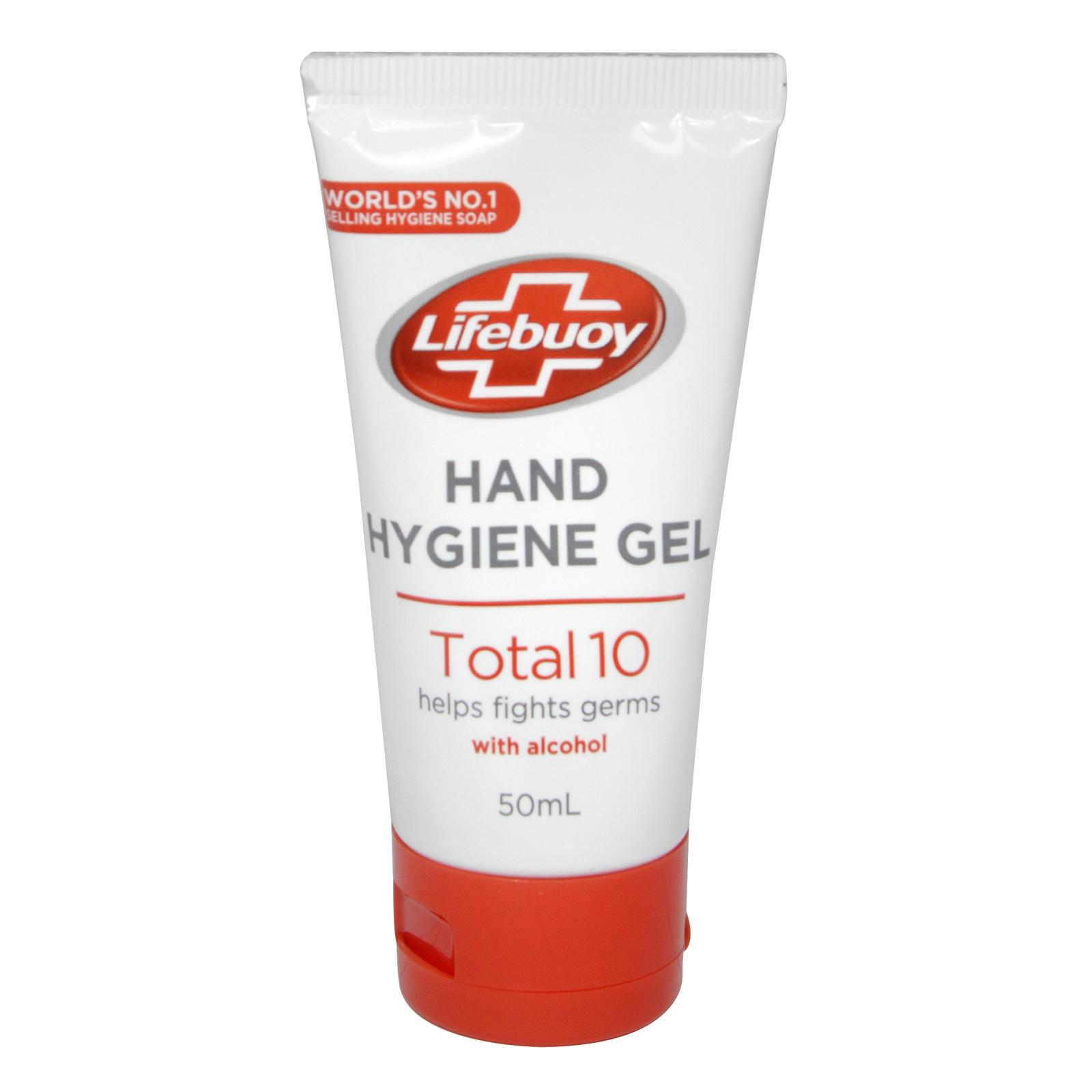 LIFEBUOY HAND HYGIENE GEL TOTAL 10 WITH ALCOHOL 50ML