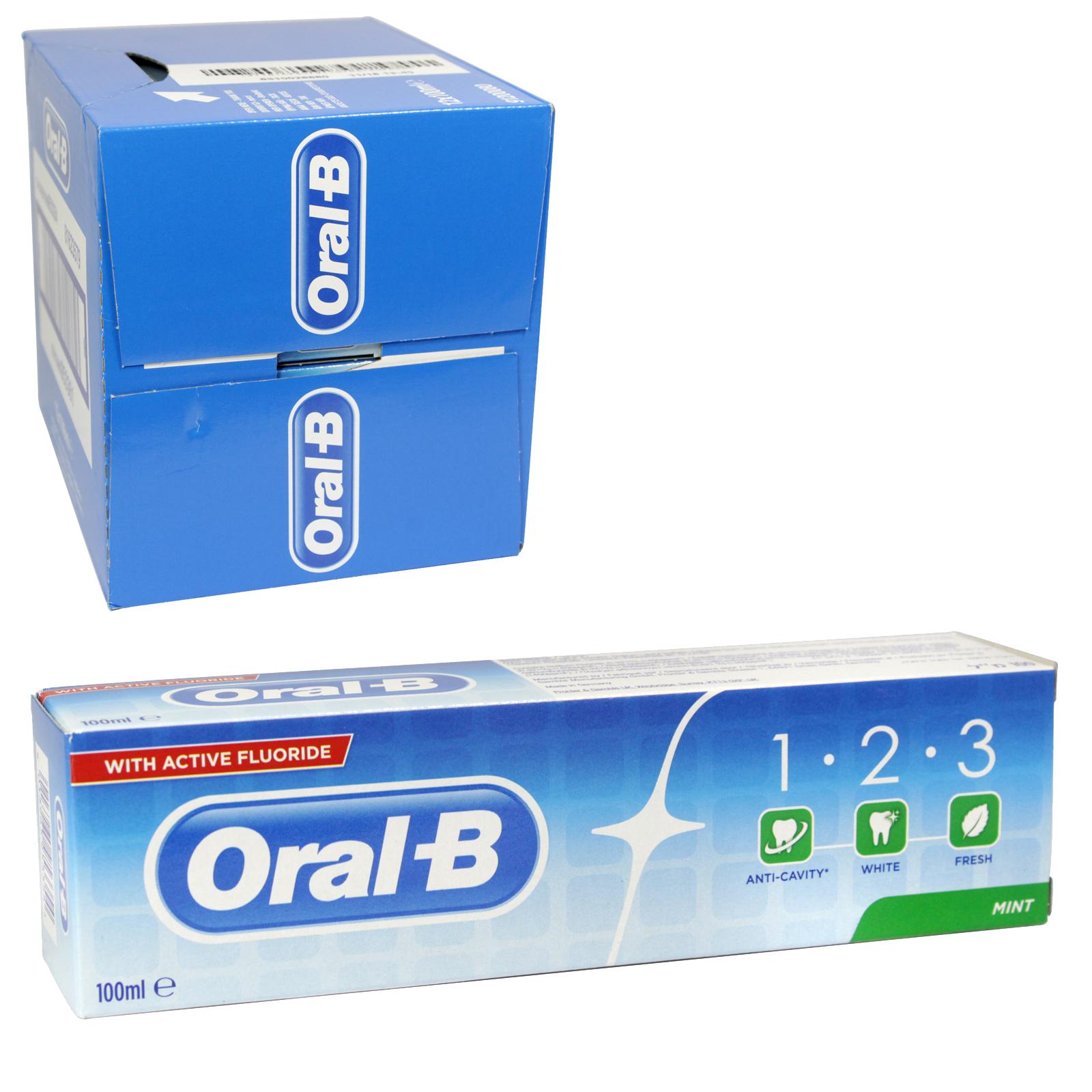 ORAL B TOOTHPASTE 1-2-3 100ML MINT X12