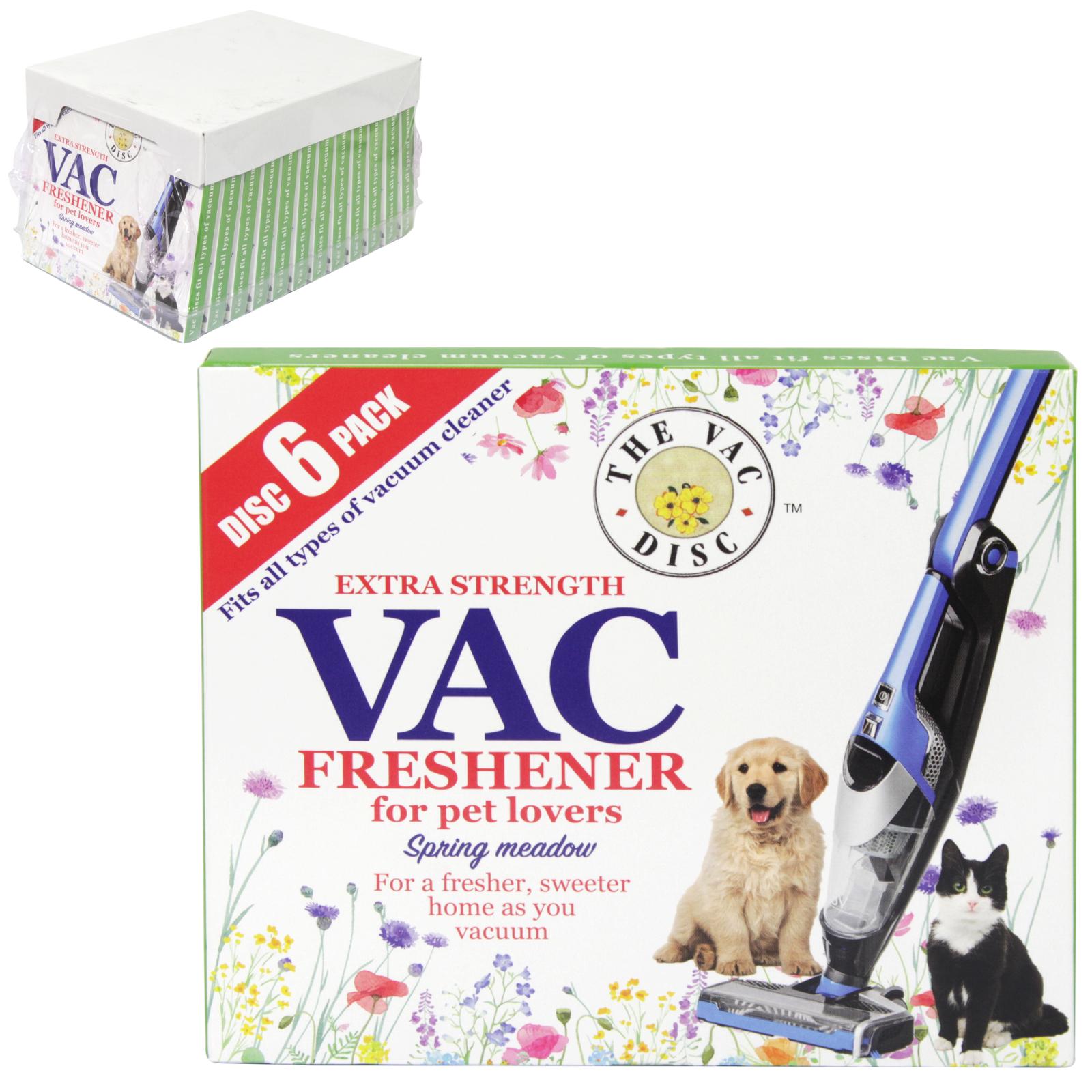 VAC FRESHENER 6PK DISC PET LOVERS X12