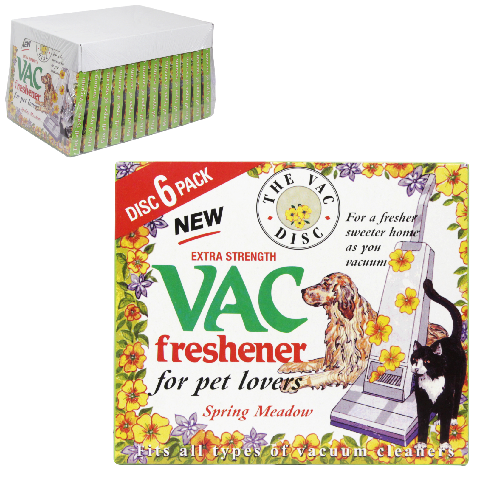 VAC FRESHENER 6PK DISC PET LOVERS X12