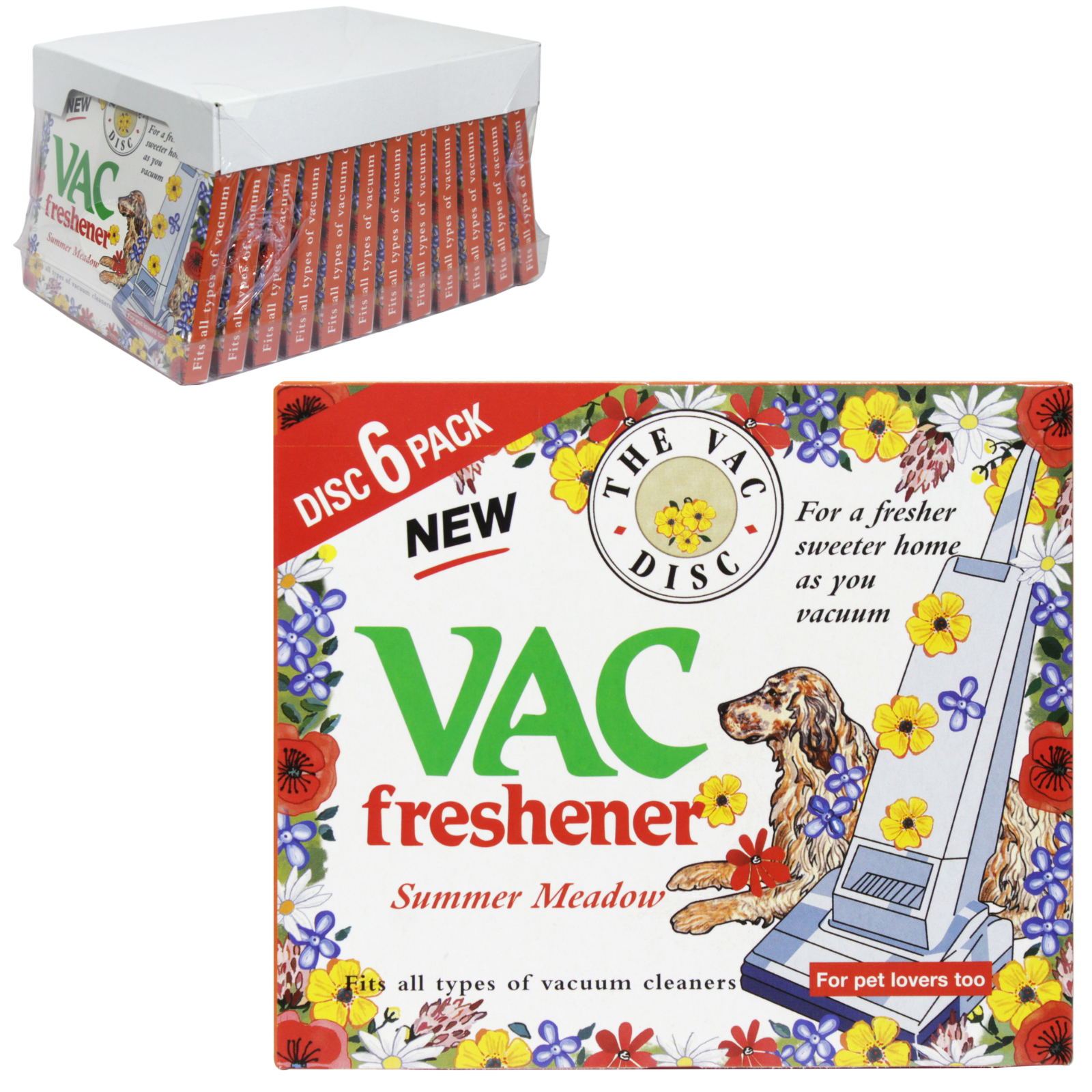 VAC FRESHENER 6PK DISC SUMMER MEADOW X12