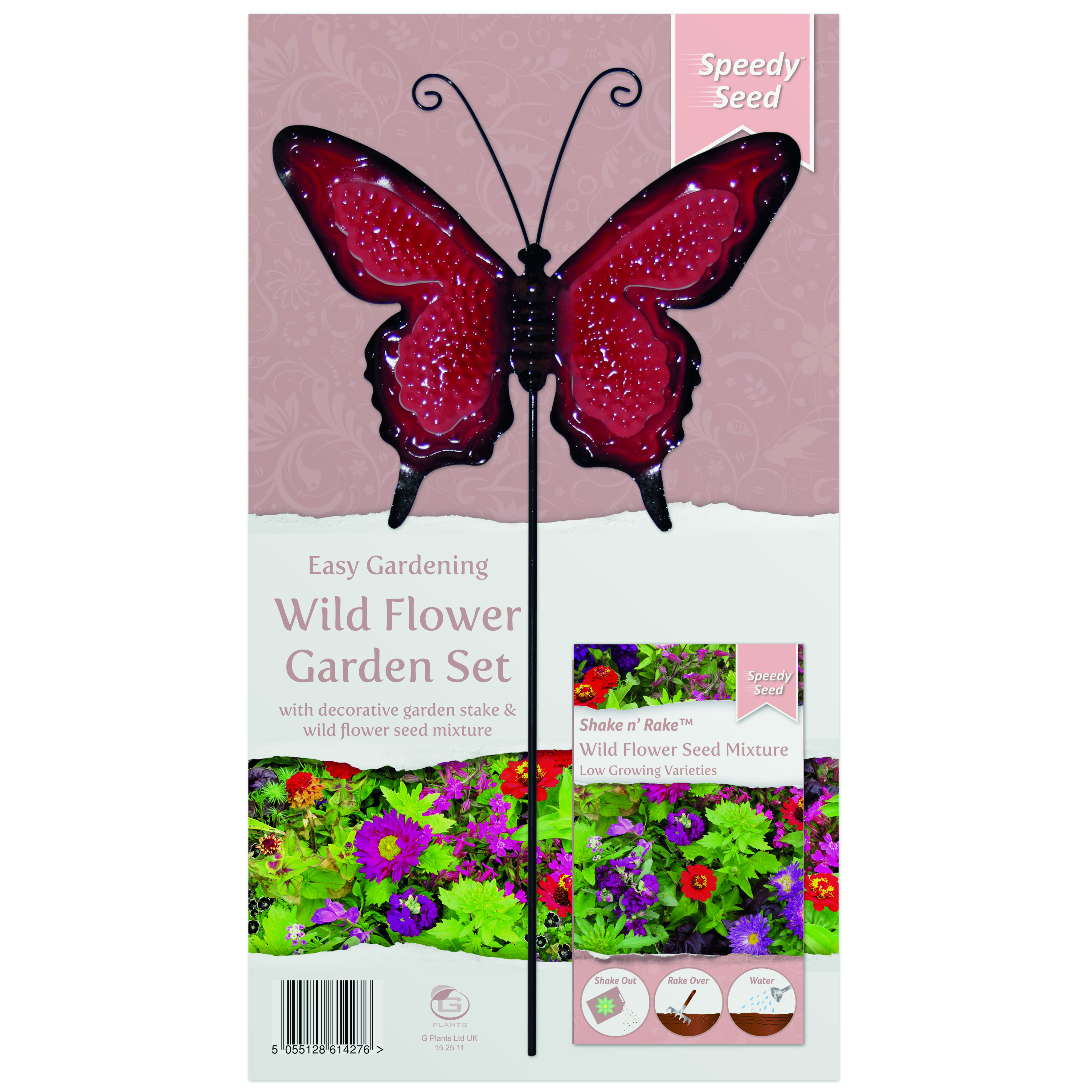 G PLANT WILDFLOWER METAL STAKE GARDEN SET LOW GROW