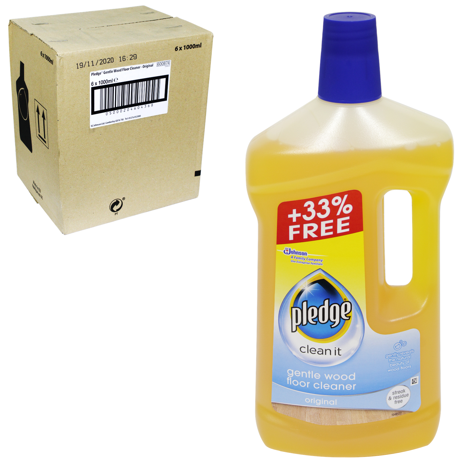 PLEDGE SOAPY WOOD CLEANER 5IN1 750ML+33% FREE X6
