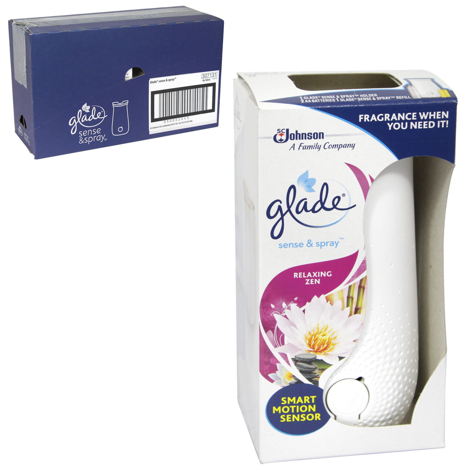 GLADE SENSE+SPRAY 18ML COMPLETE RELAXING ZEN X4