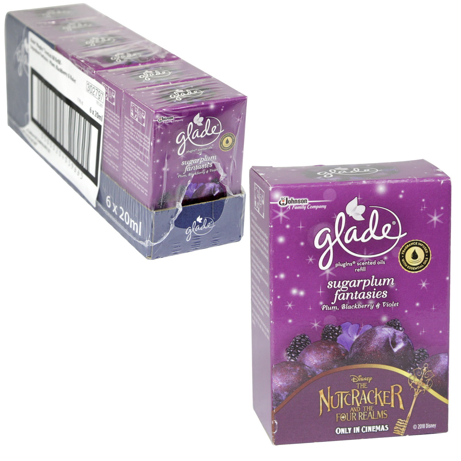 GLADE PLUG-IN REFILL 20ML SUGARPLUM FANTASIES X6
