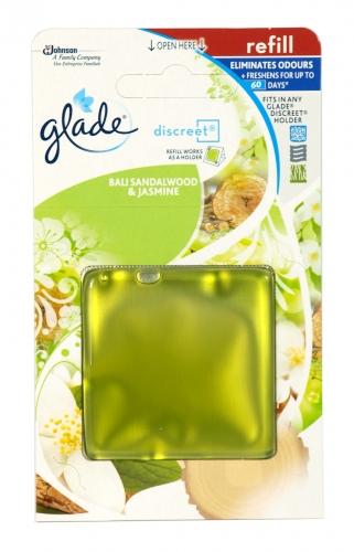GLADE DISCREET REFILL 8GM BALI SANDALWOOD+JASMINE X8