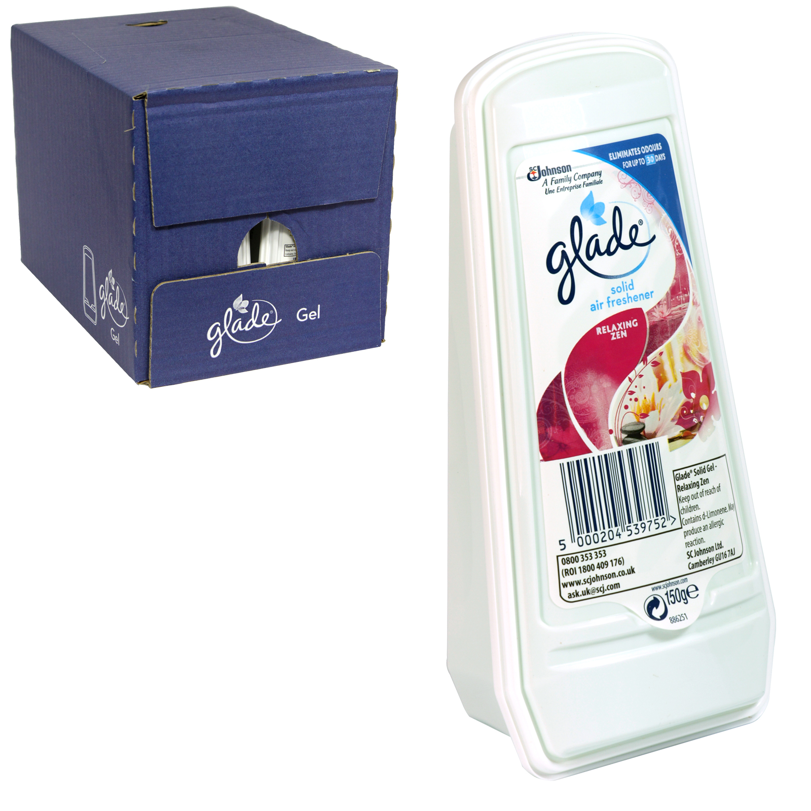 GLADE ESSENCE SOLID GEL 150GM RELAXING ZEN X8