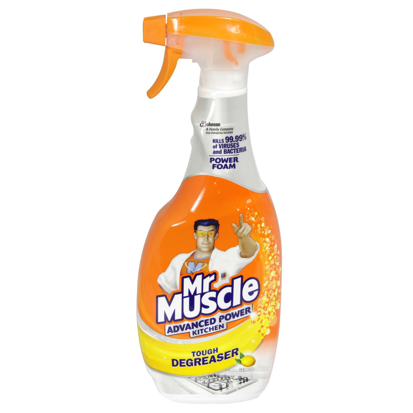 MR MUSCLE 750ML SPRAY ADVANCED KITCHEN POWER TOUGH DEGREASER X6