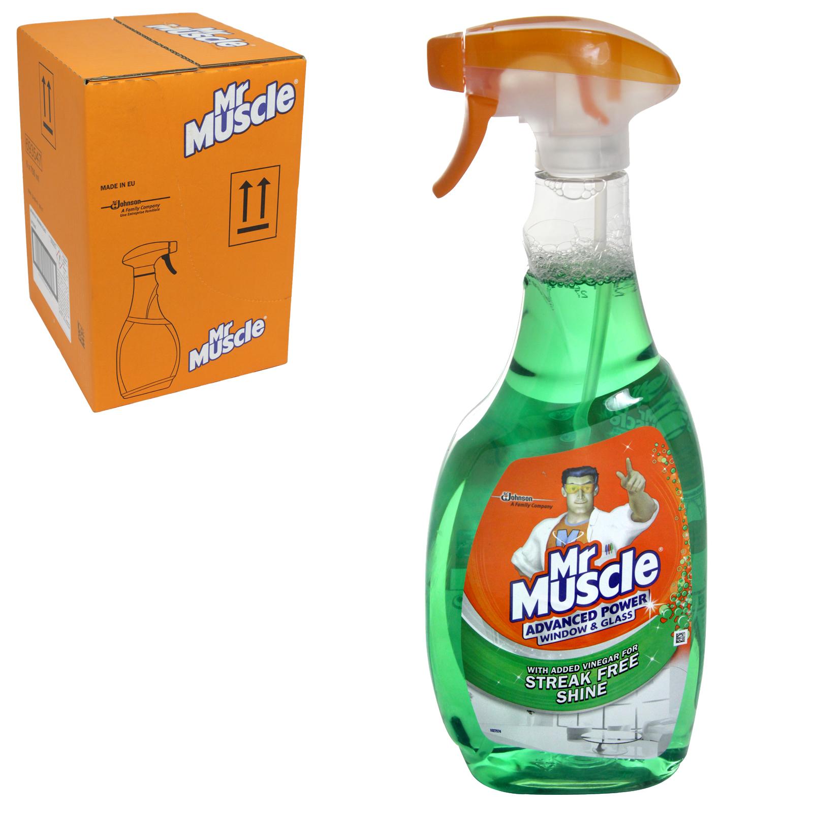 MR MUSCLE 750ML ADVANCED WINDOW & GLASS STREAK FREE SHINE X6