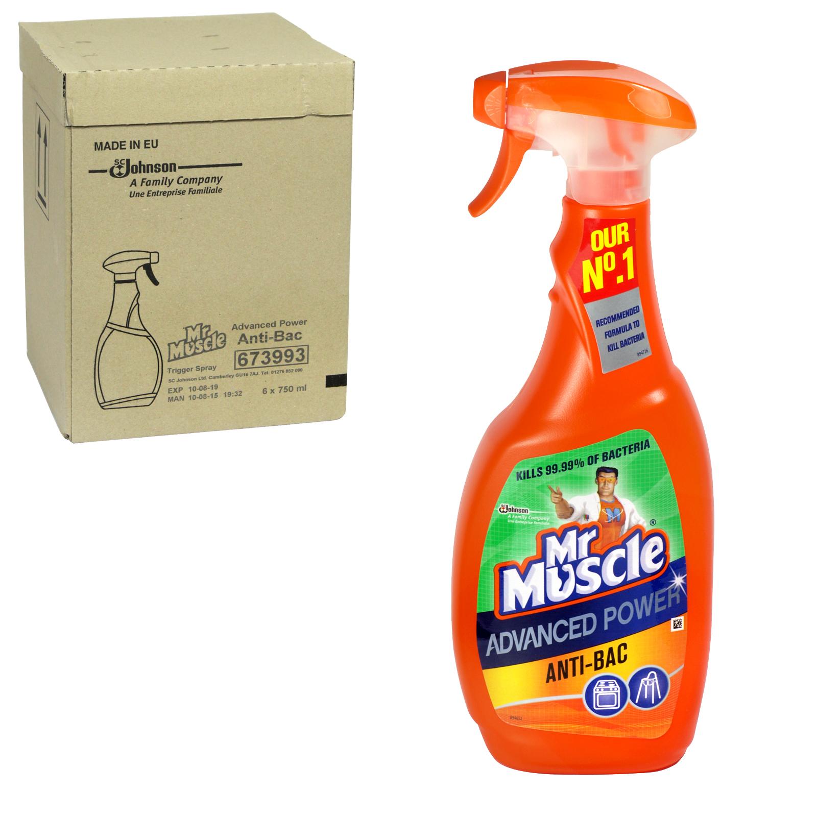 MR MUSCLE 750ML SPRAY ANTI-BAC X6