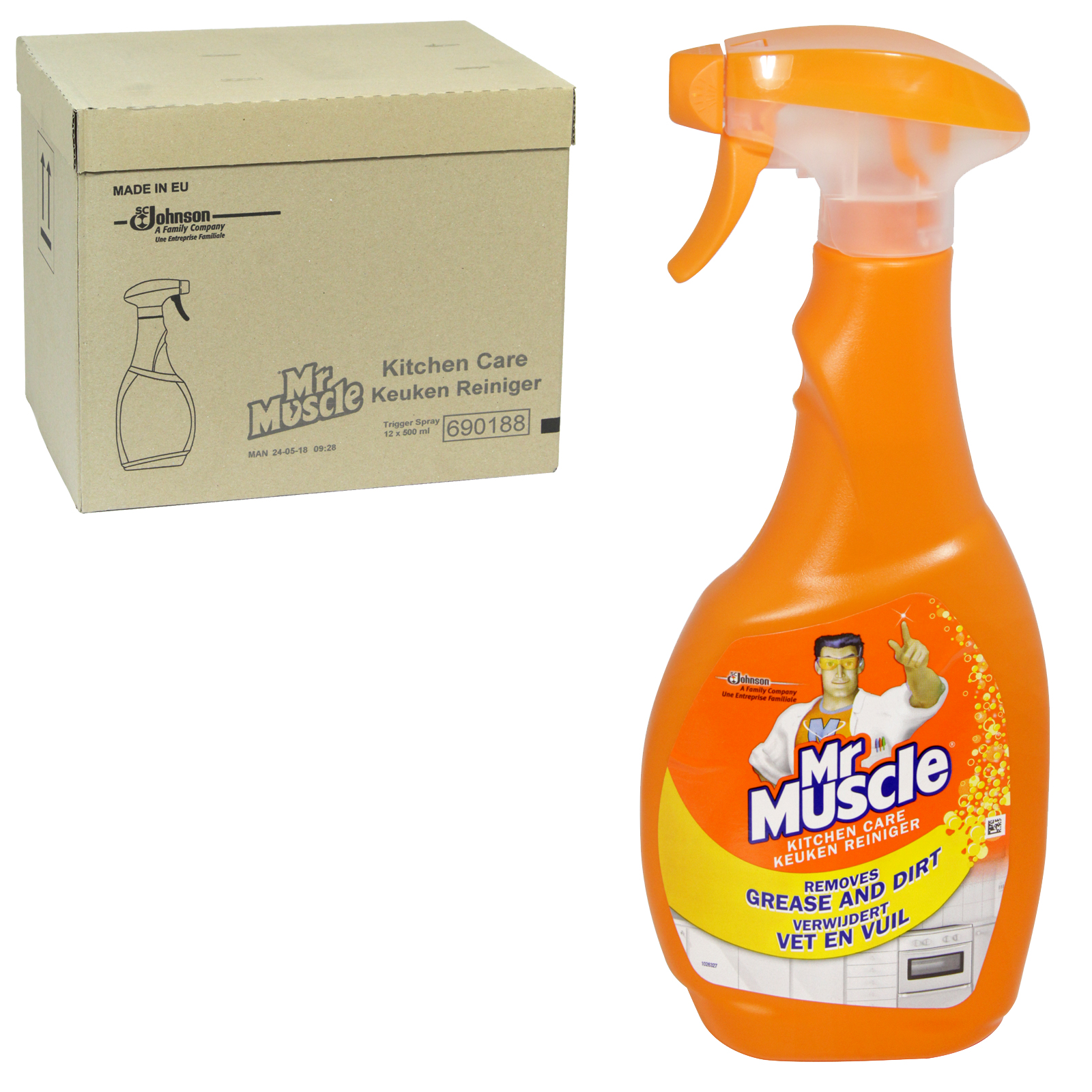 MR MUSCLE 500ML KITCHEN CARE X12
