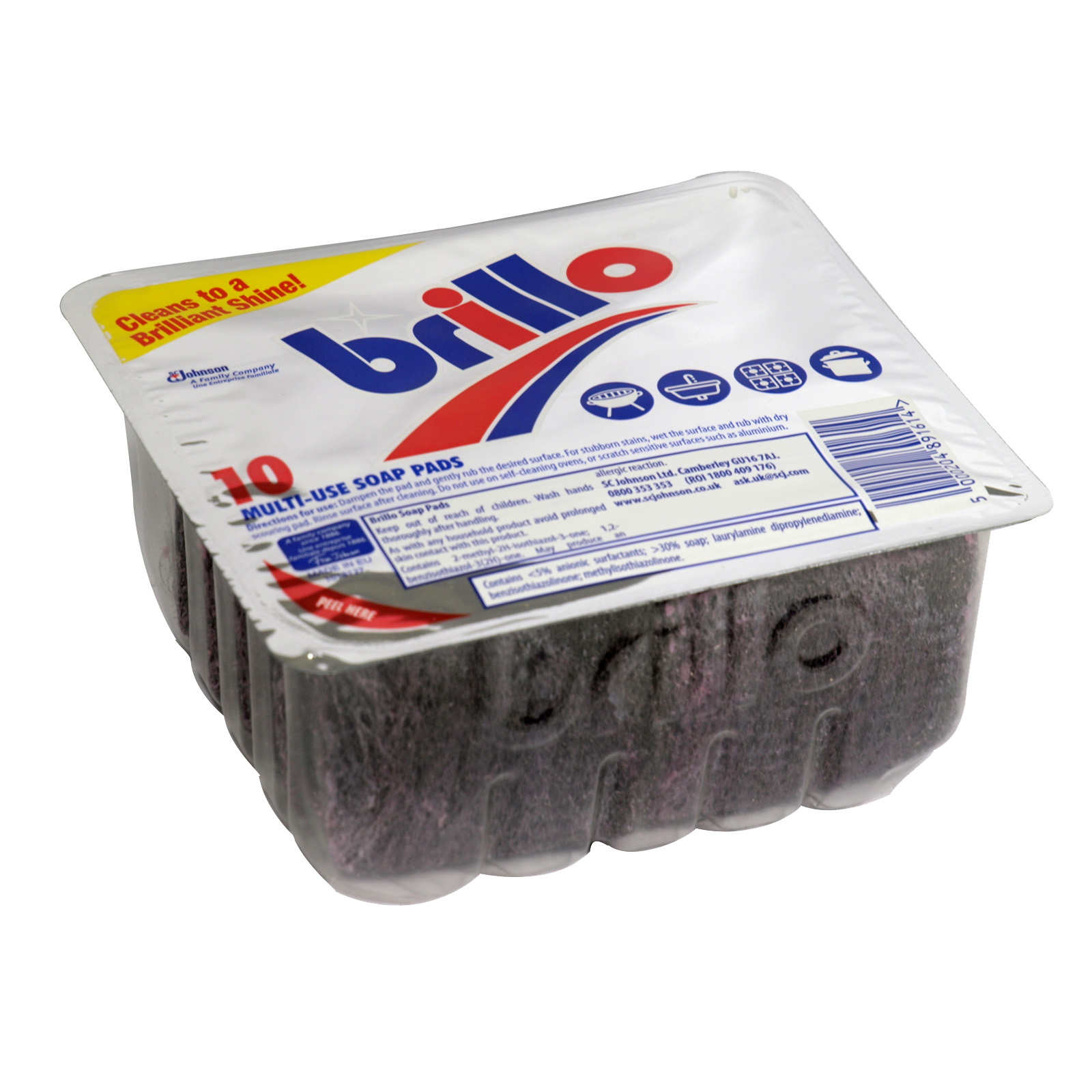 BRILLO PADS 10 FOIL PACK X12
