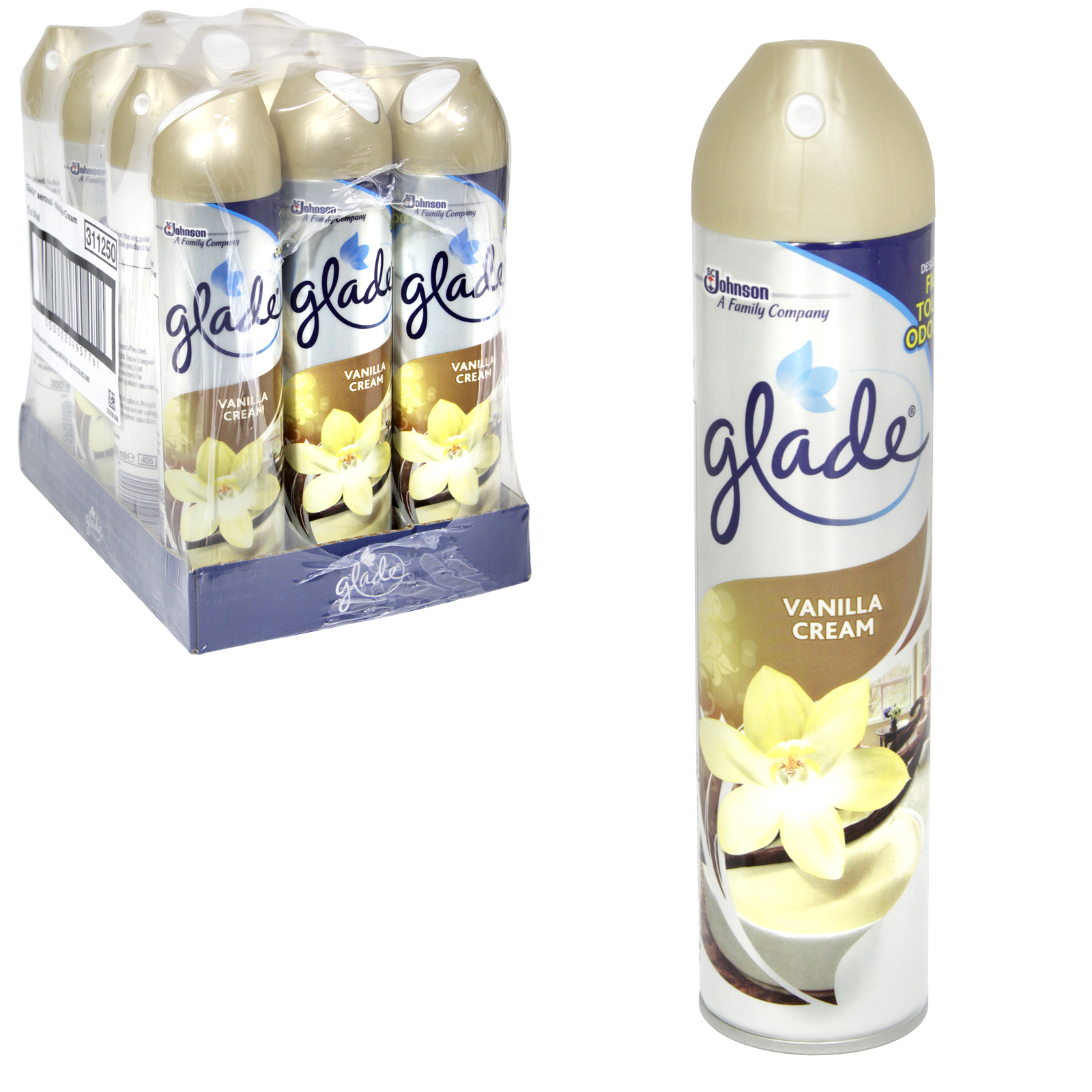 GLADE SILVER 300ML VANILLA CREAM X12
