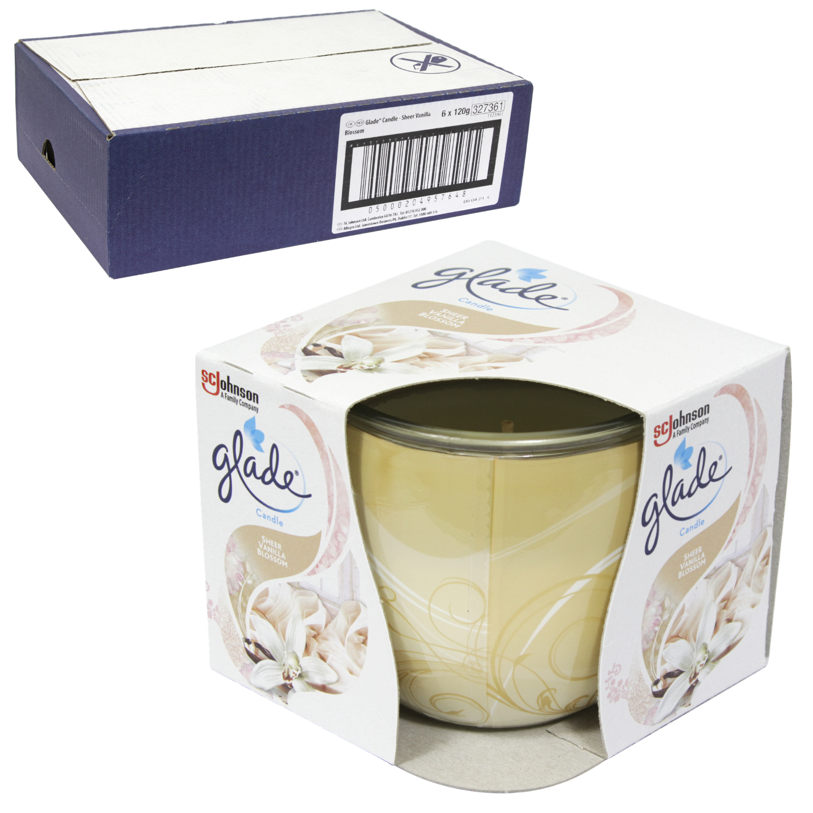 GLADE CANDLES 120GM HOMEMADE BISCUIT DELIGHT VANILLA CREAM & SUGAR X6