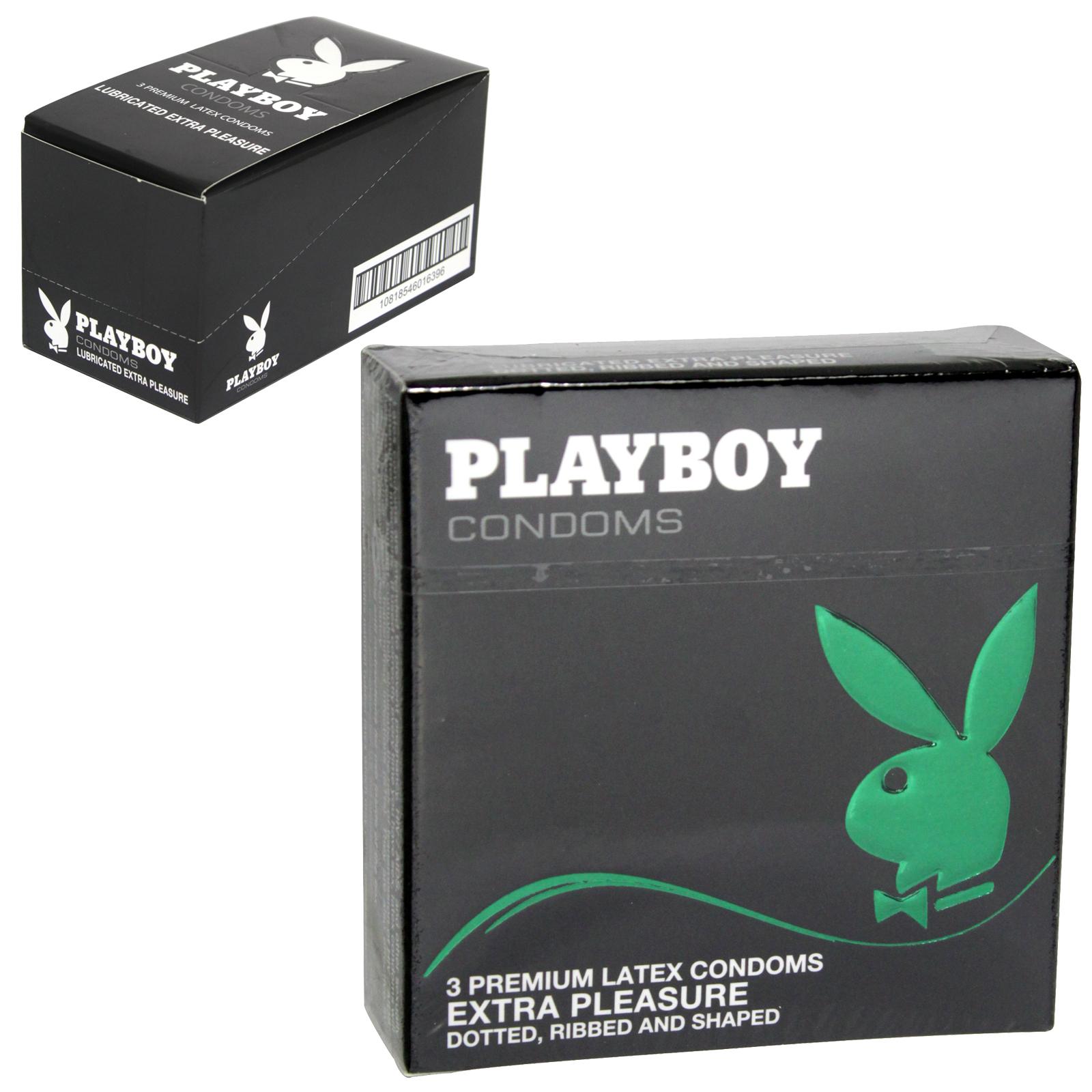 PLAYBOY CONDOMS 3S EXTRA PLEASURE ASS X6