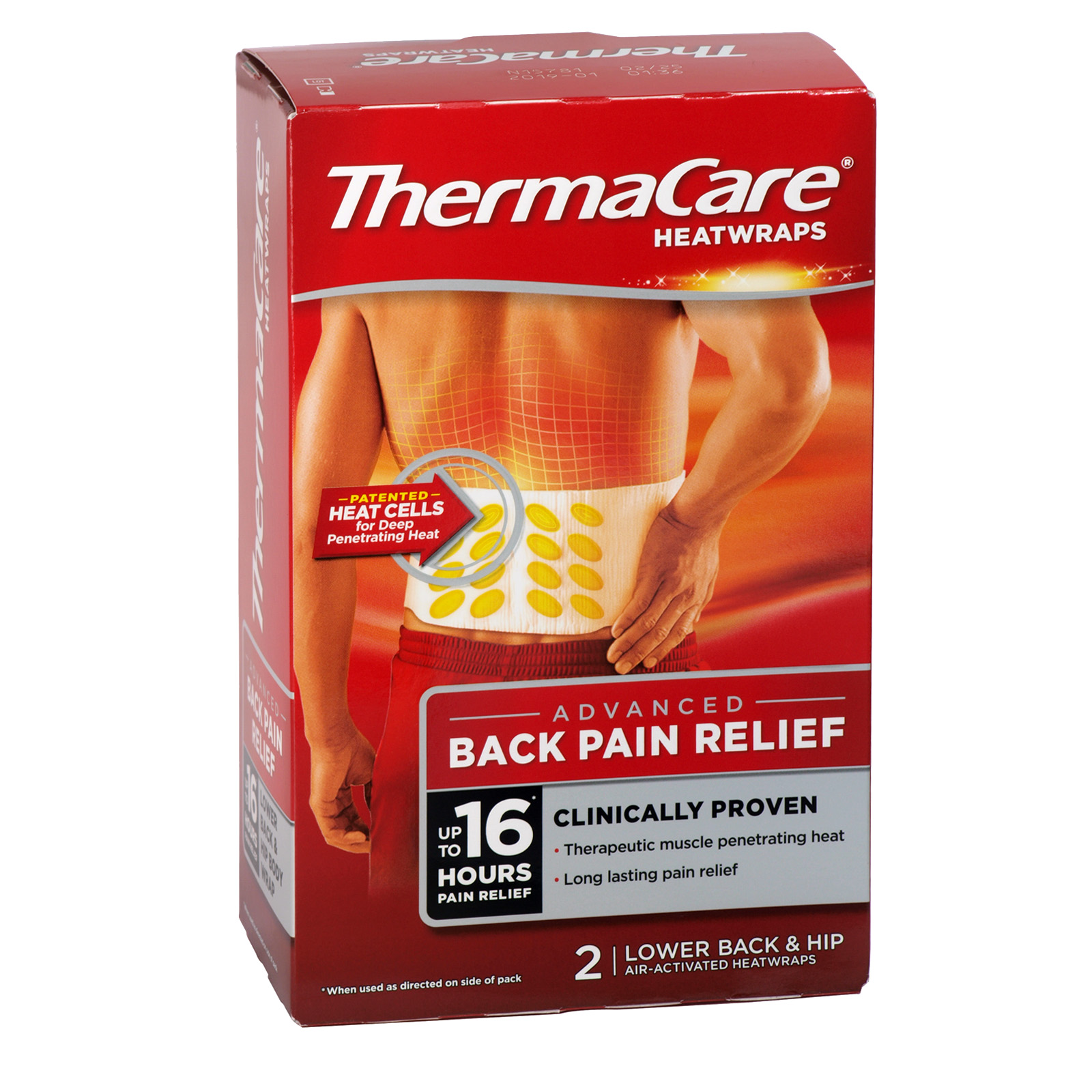 THERMACARE HEAT WRAPS 2PK LOWER BACK AND HIP RSP ?6.12