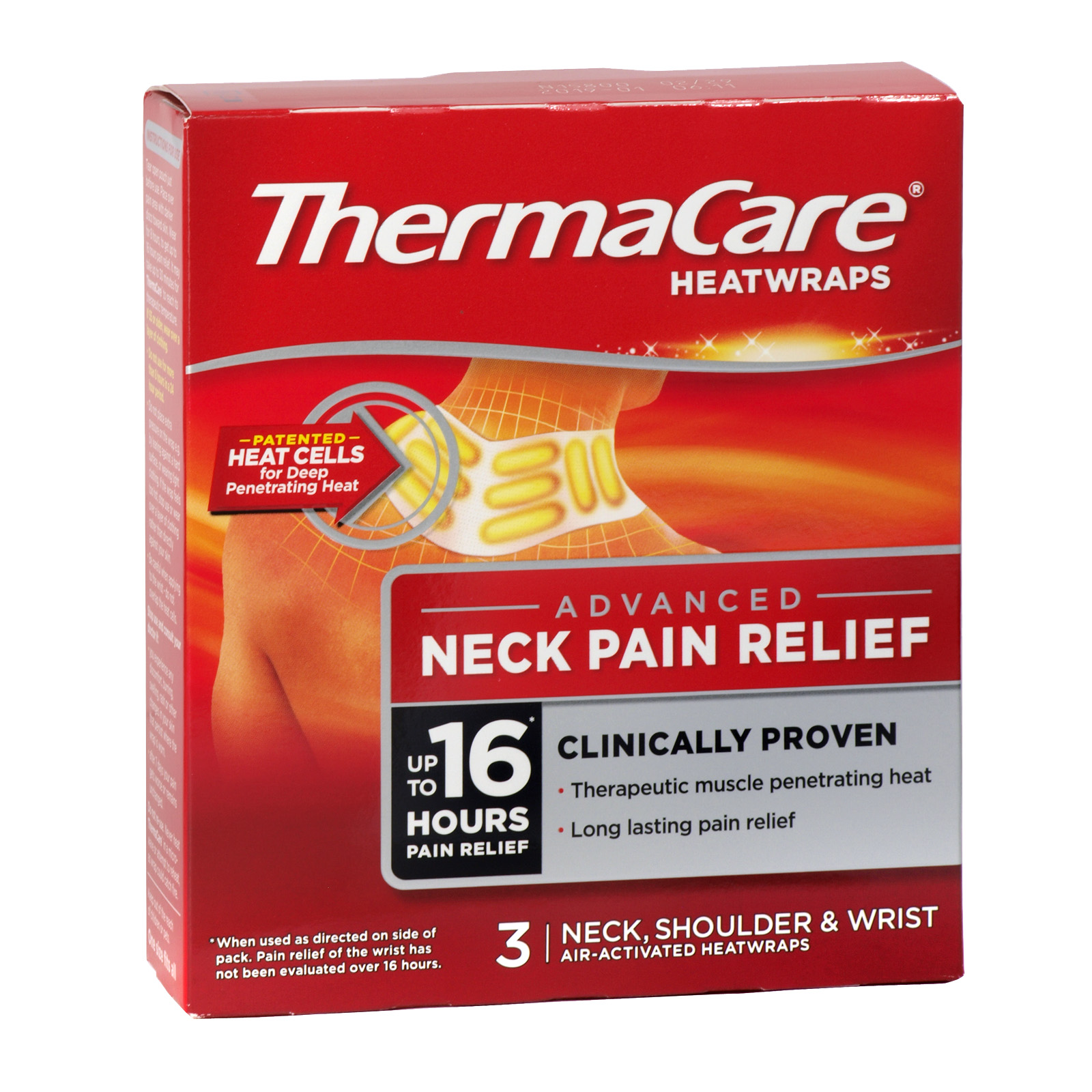 THERMACARE HEAT WRAPS 3PK NECK SHOULDER AND WRIST RSP ?6.12