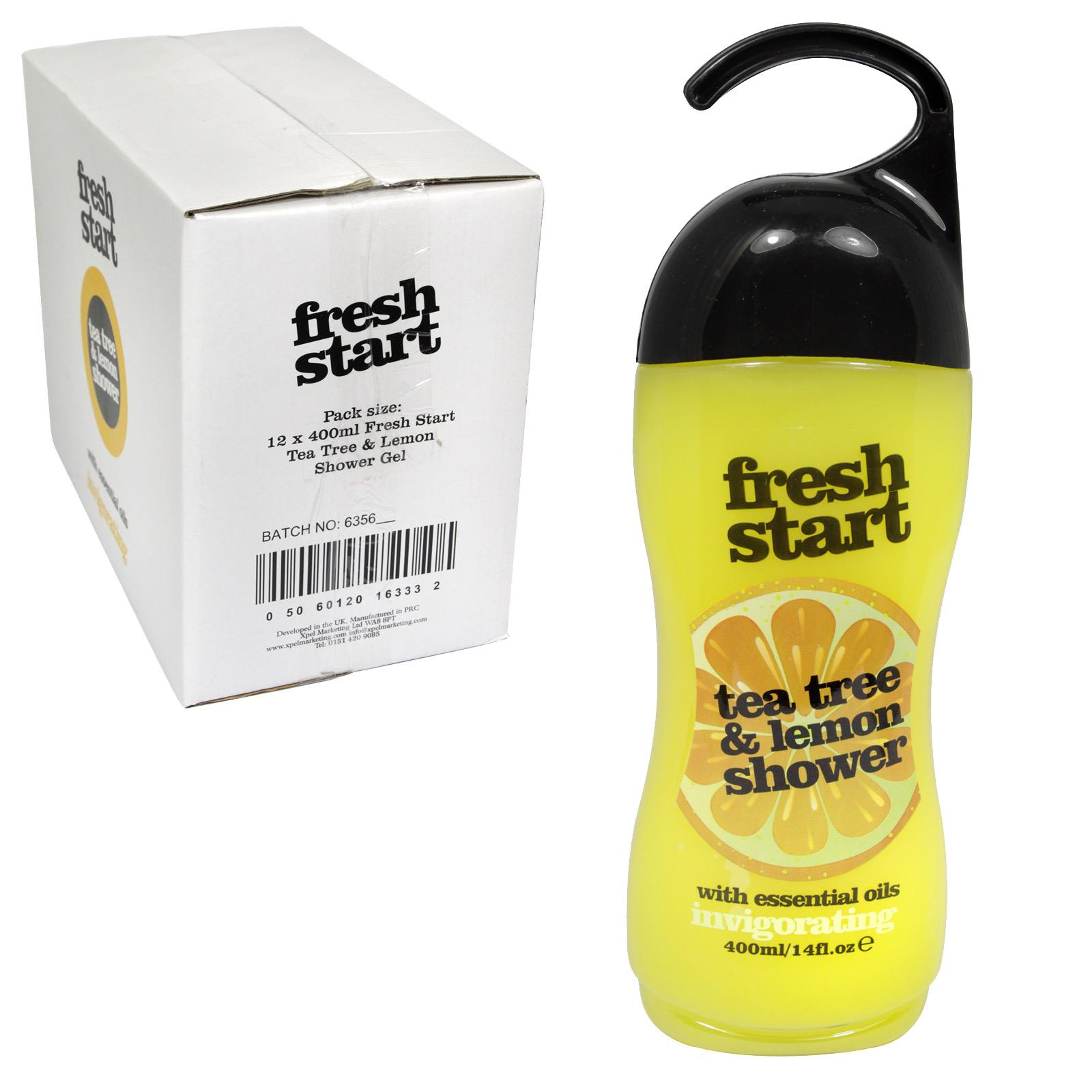 FRESH START SHOWER GEL 400ML TEA TREE+LEMON X12