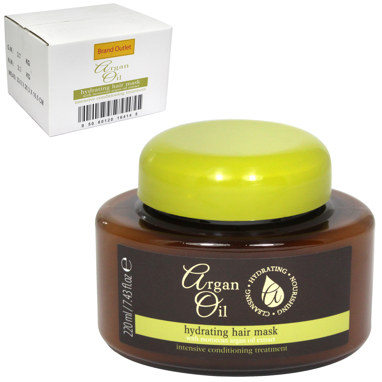 ARGAN OIL HYDRATING HAIR MASK 220ML X12