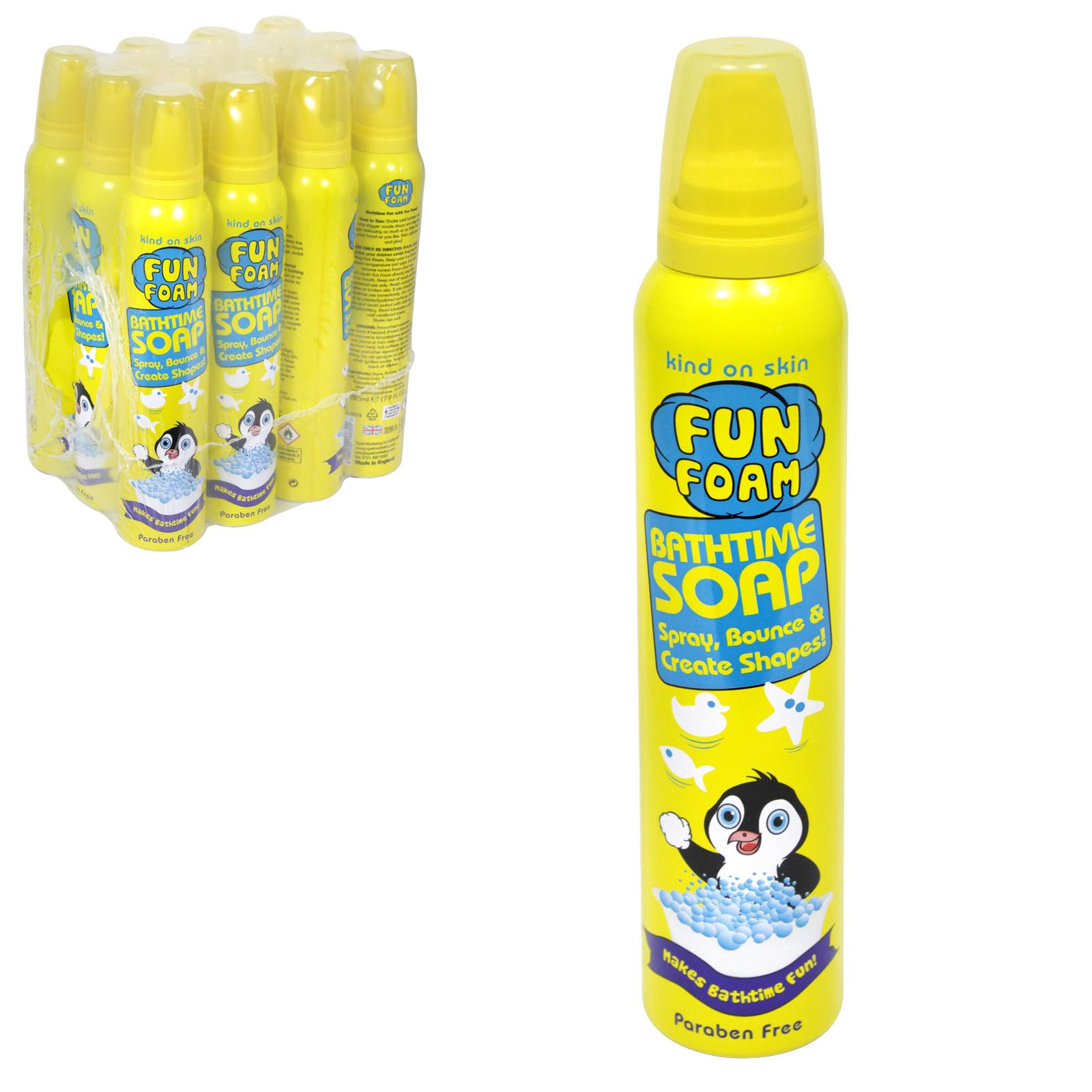 KIDS FOAM BATHTIME SOAP PENGUIN/YELLOW X12